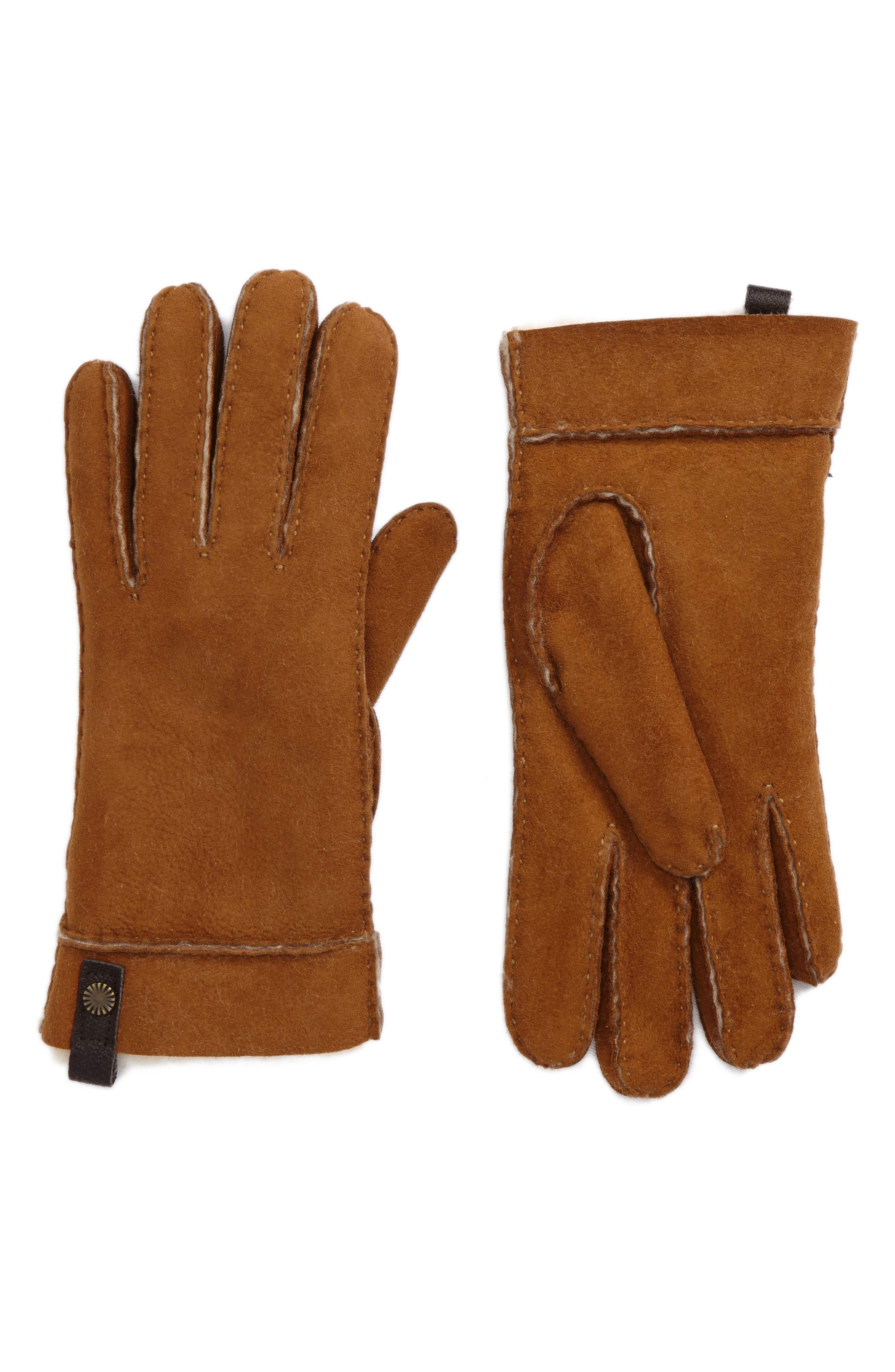 Tenney Genuine Shearling Gloves,                             Main thumbnail 4, color,