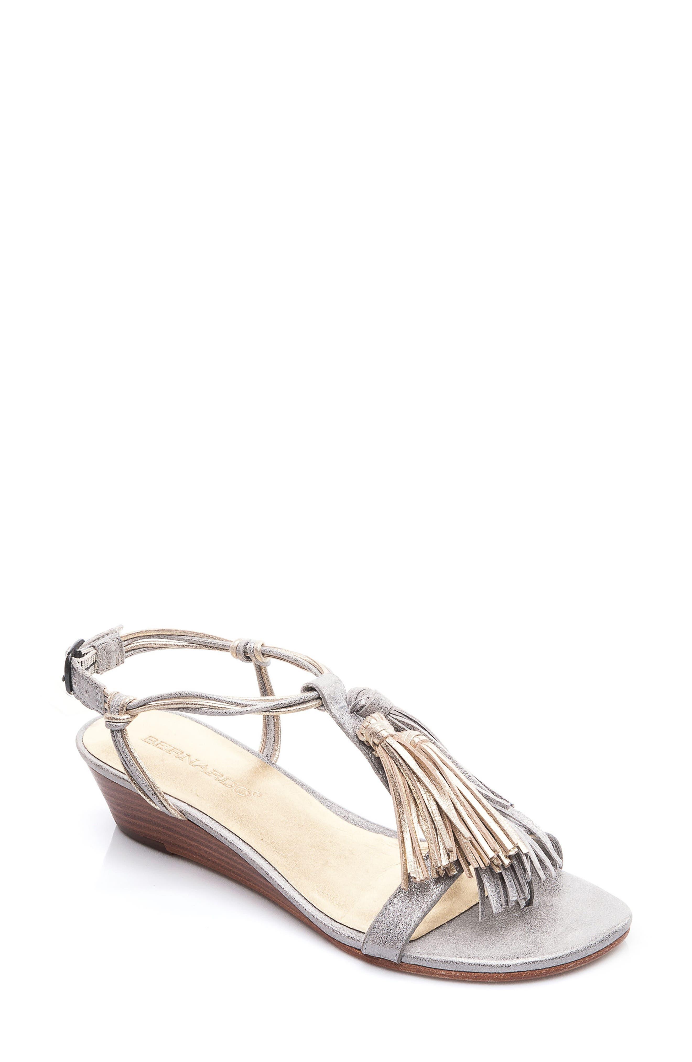Footwear Court Fringe Leather Sandal,                             Main thumbnail 2, color,