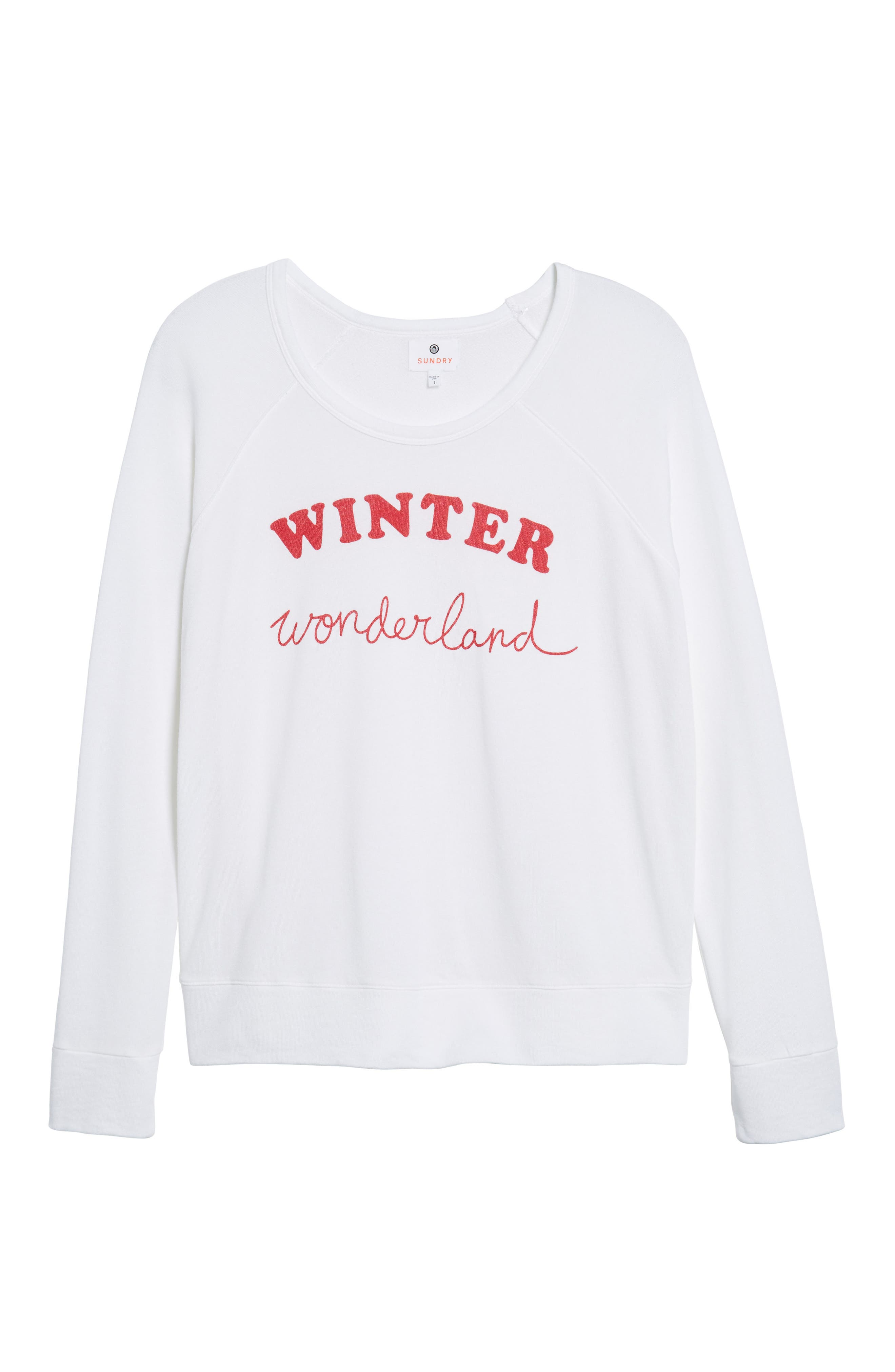 Winter Wonderland Sweatshirt,                             Alternate thumbnail 6, color,                             100
