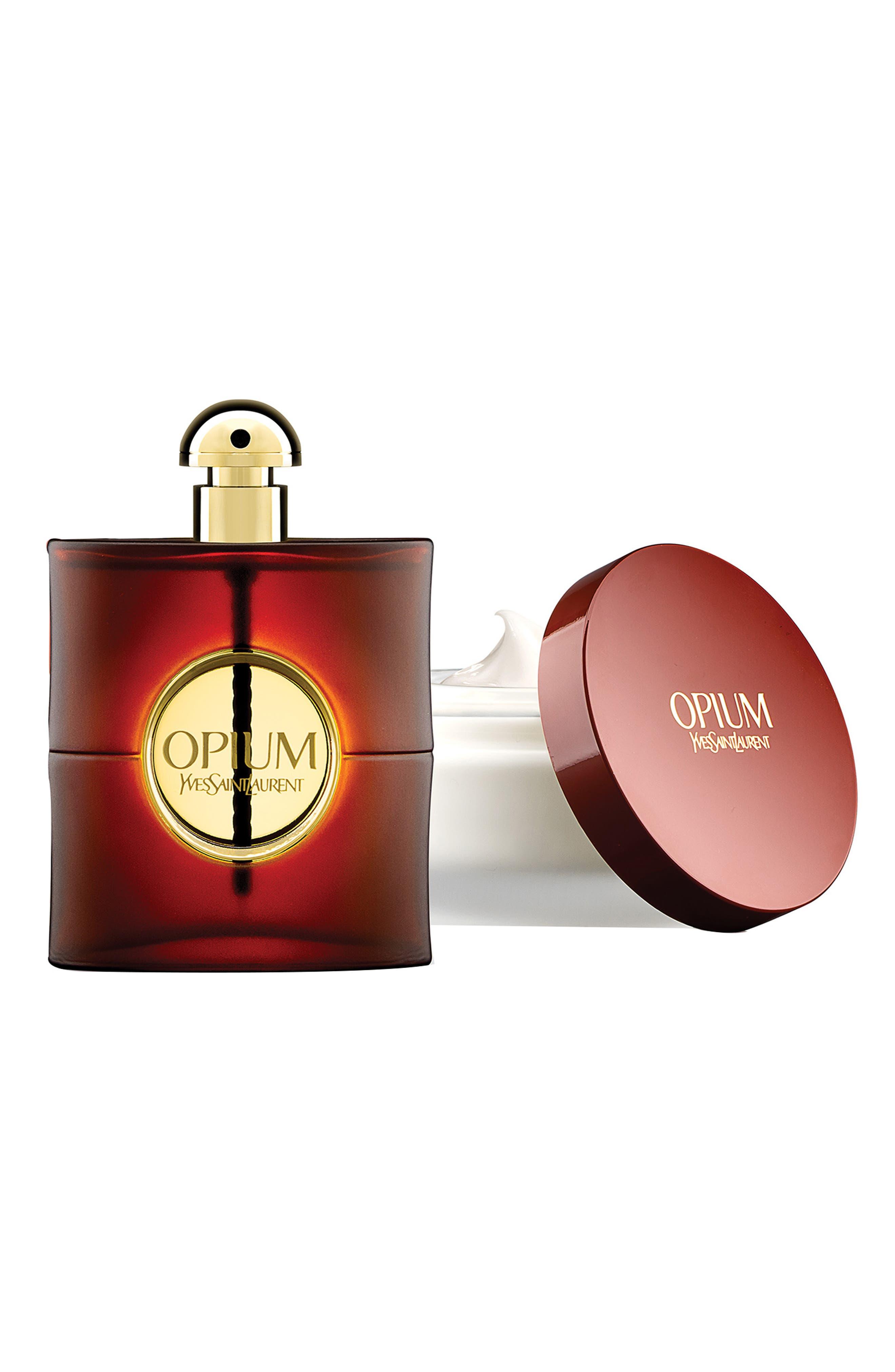 Opium Eau de Parfum & Body Cream Set,                             Main thumbnail 1, color,                             000