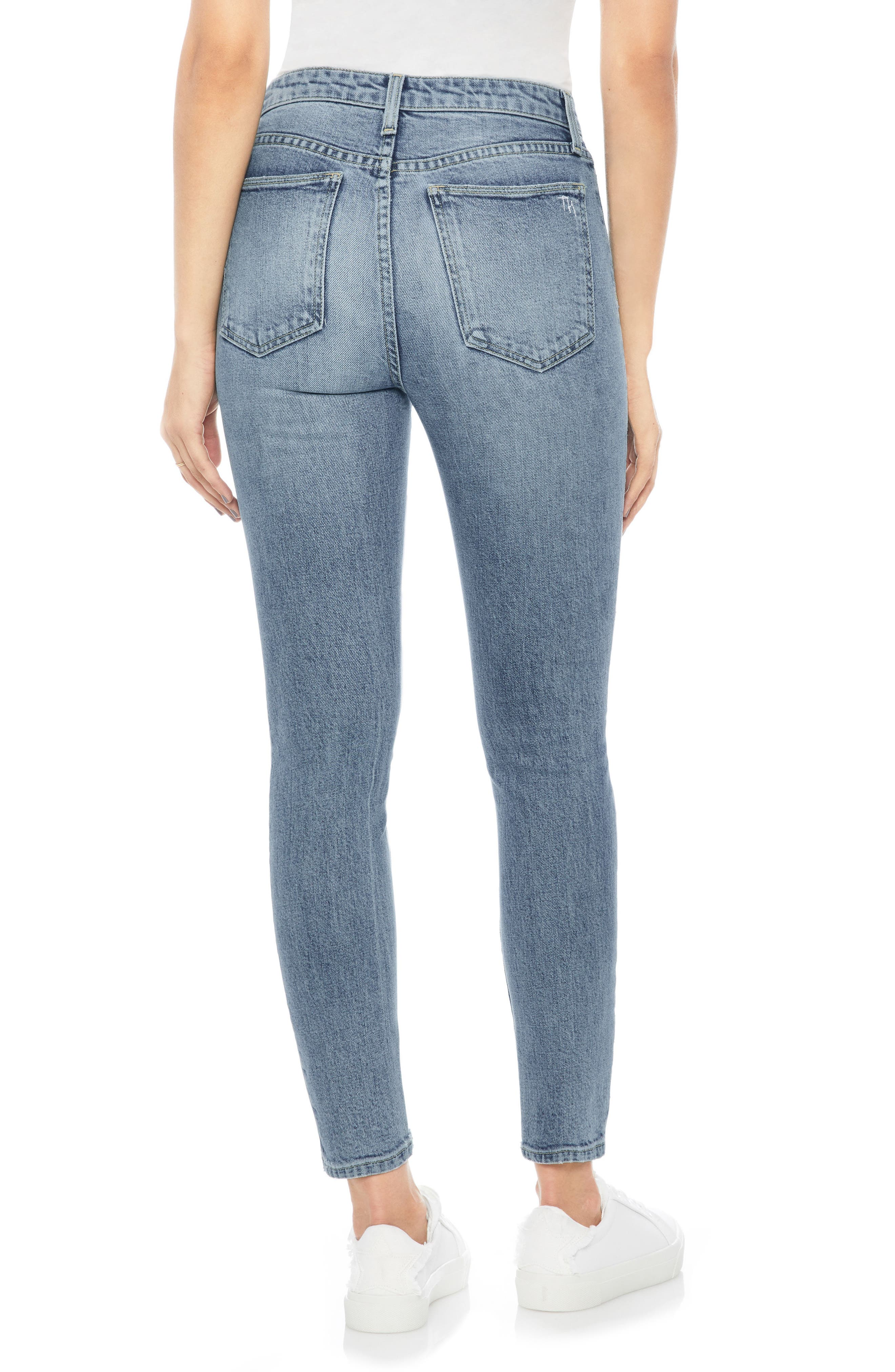 JOE'S,                             Charlie High Waist Ankle Skinny Jeans,                             Alternate thumbnail 2, color,                             415