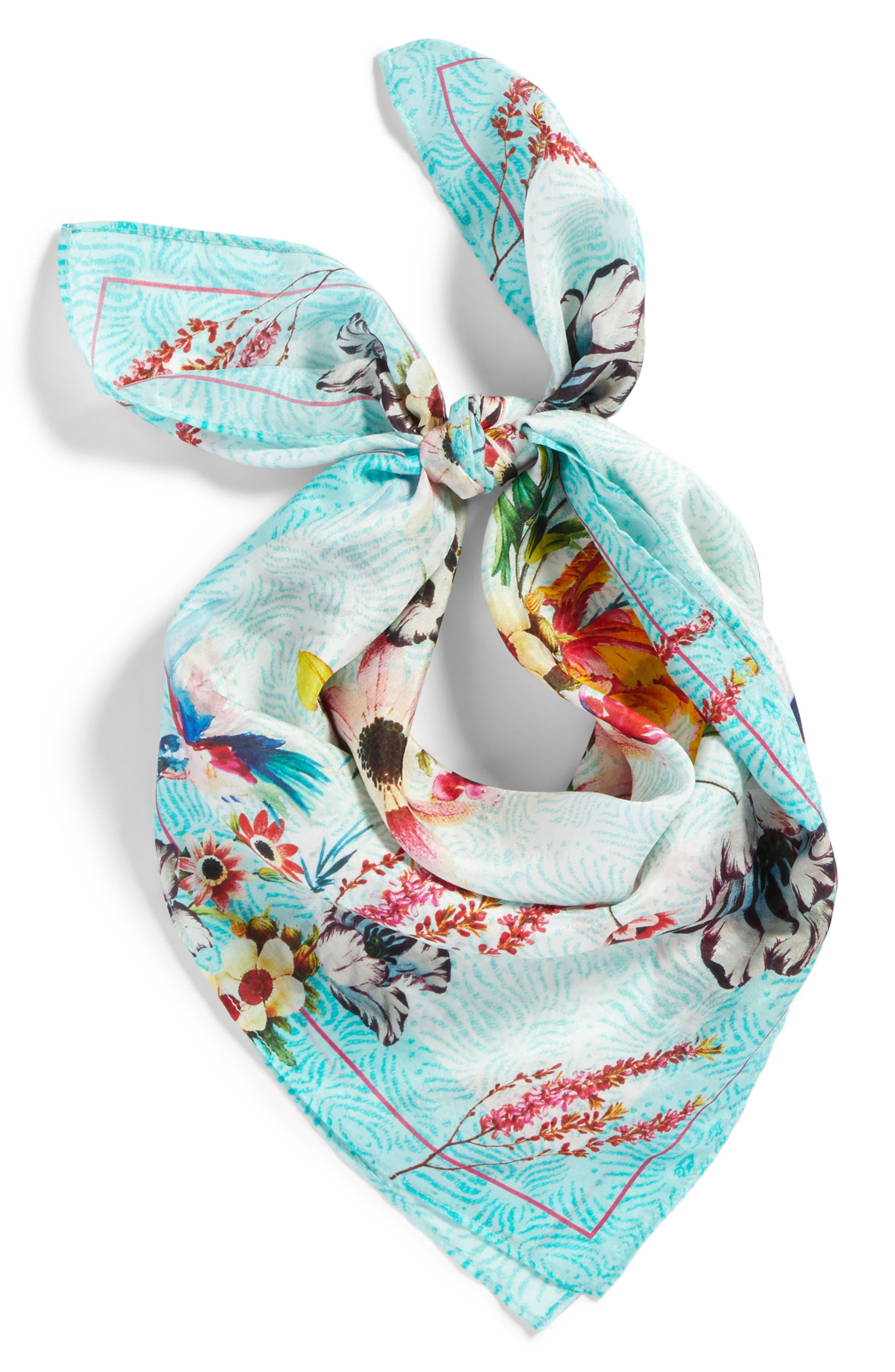 Print Silk Scarf,                             Alternate thumbnail 2, color,                             440