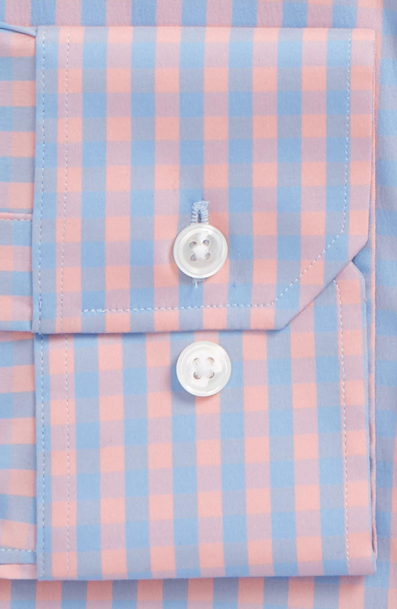 Jetsetter Slim Fit Stretch Check Dress Shirt,                             Alternate thumbnail 6, color,