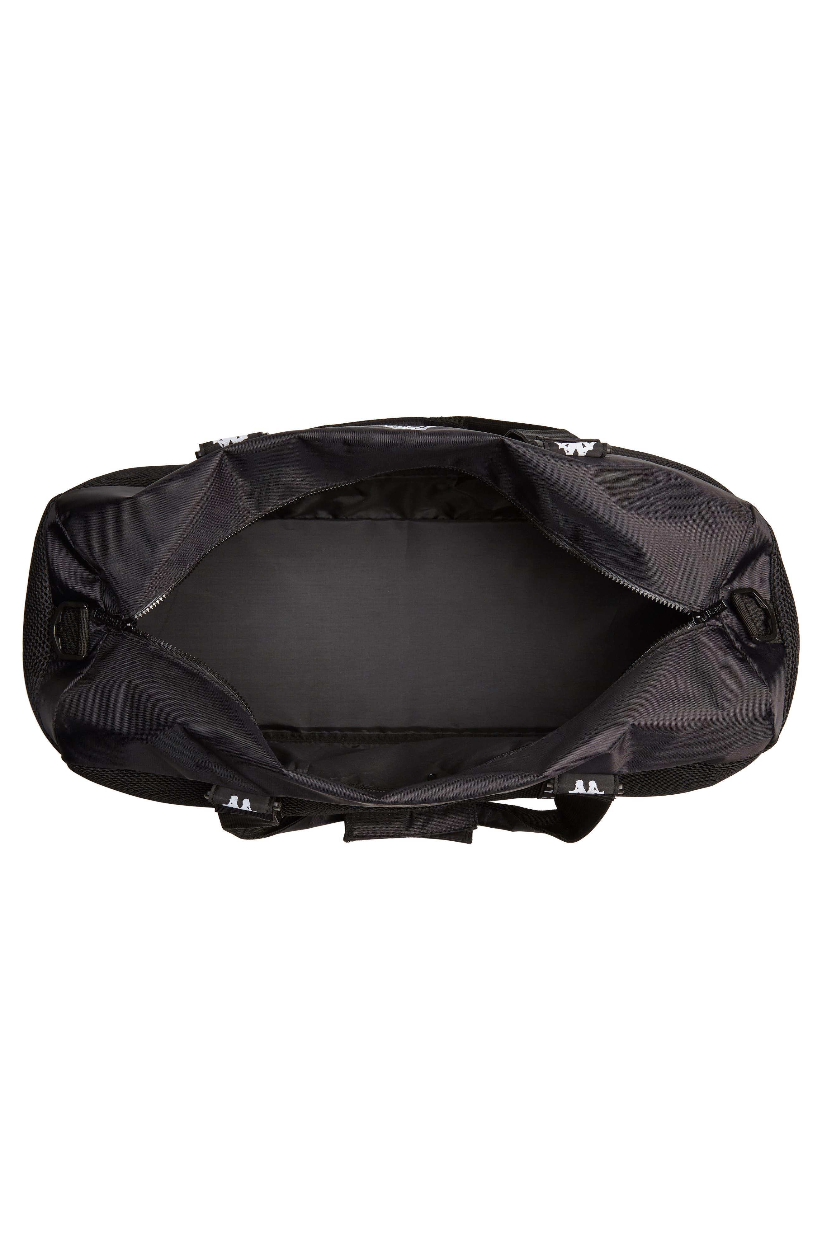 XL Athletic Duffel Bag,                             Alternate thumbnail 4, color,                             BLACK-WHITE