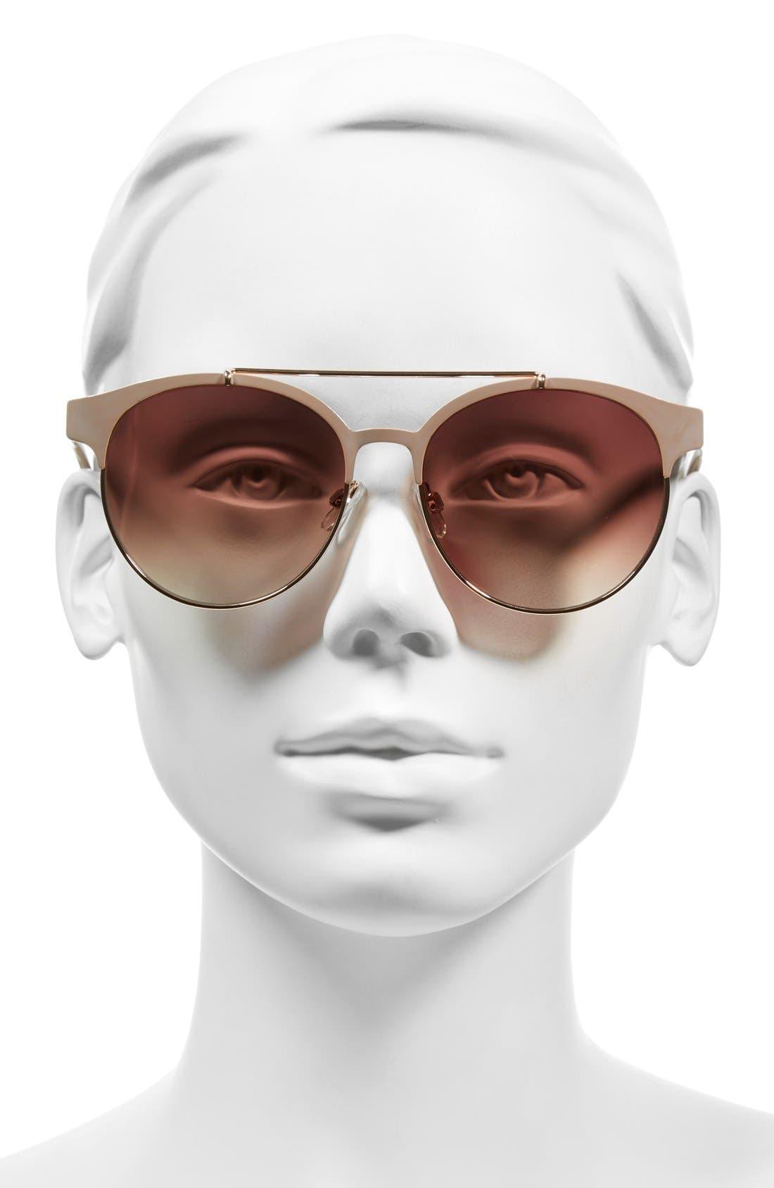 55mm Round Sunglasses,                             Alternate thumbnail 6, color,