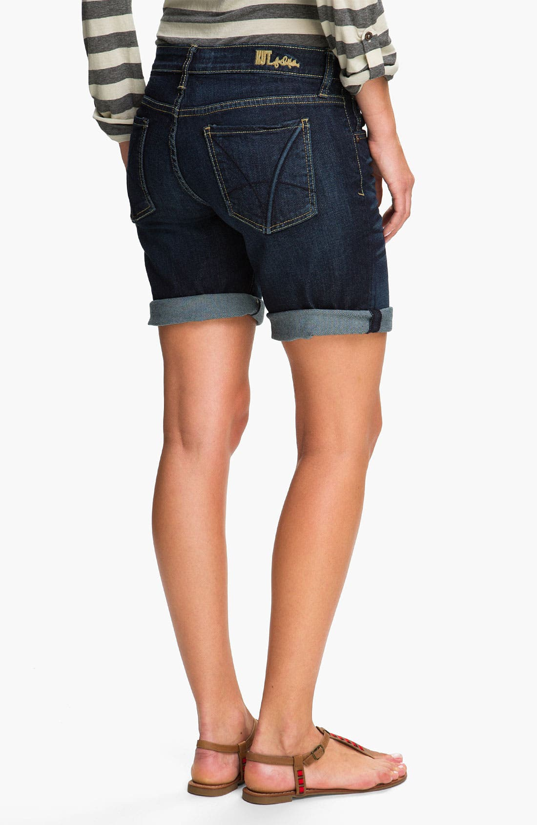 Boyfriend Denim Shorts,                             Alternate thumbnail 5, color,                             400