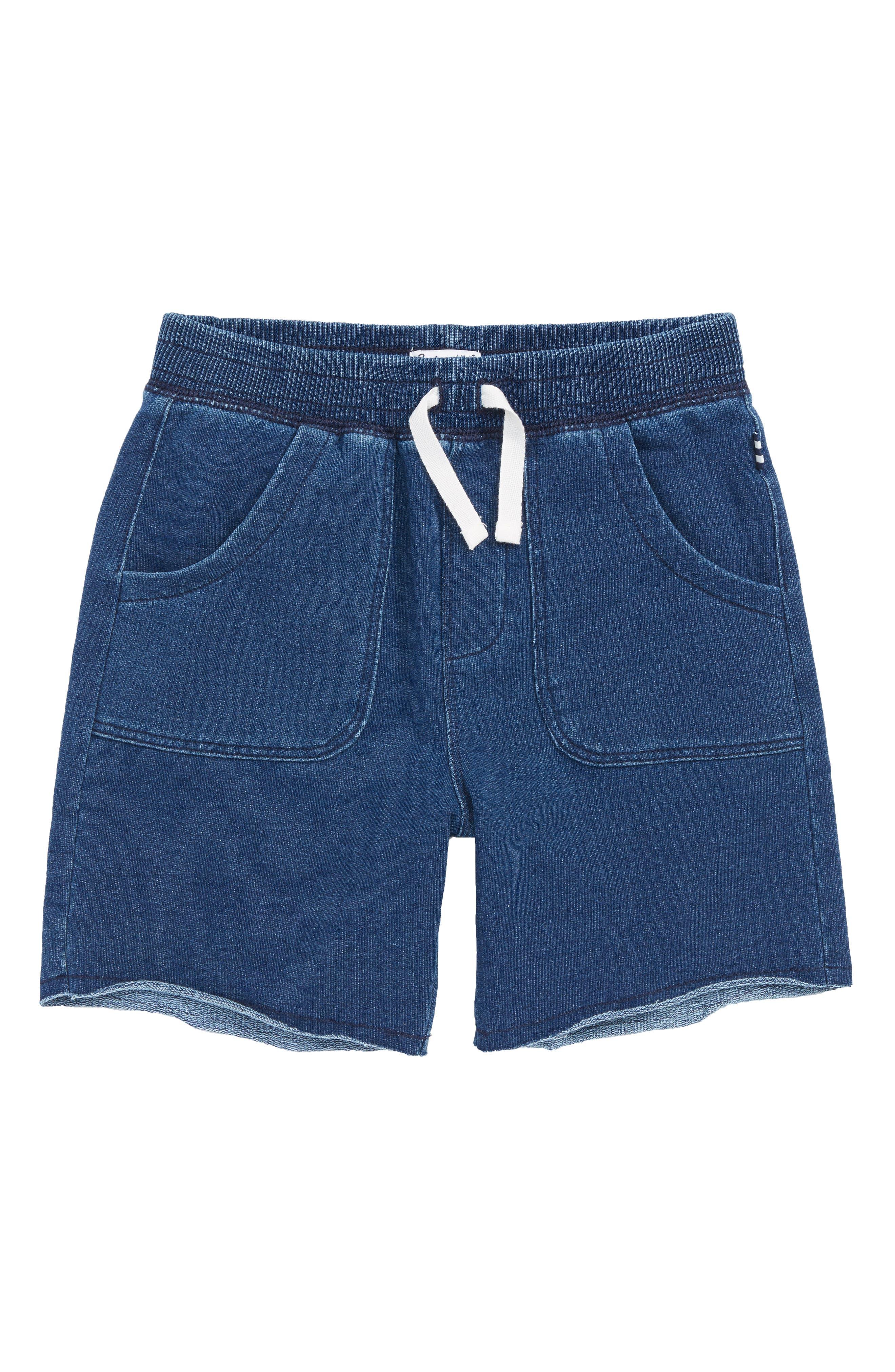 Stonewashed French Terry Shorts,                         Main,                         color, MED STONE INDIGO