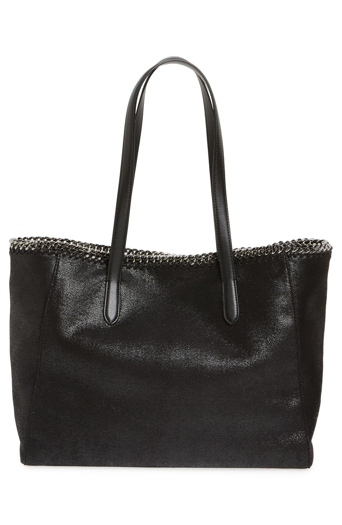 'Falabella - Shaggy Deer' Faux Leather Tote,                             Alternate thumbnail 5, color,                             001