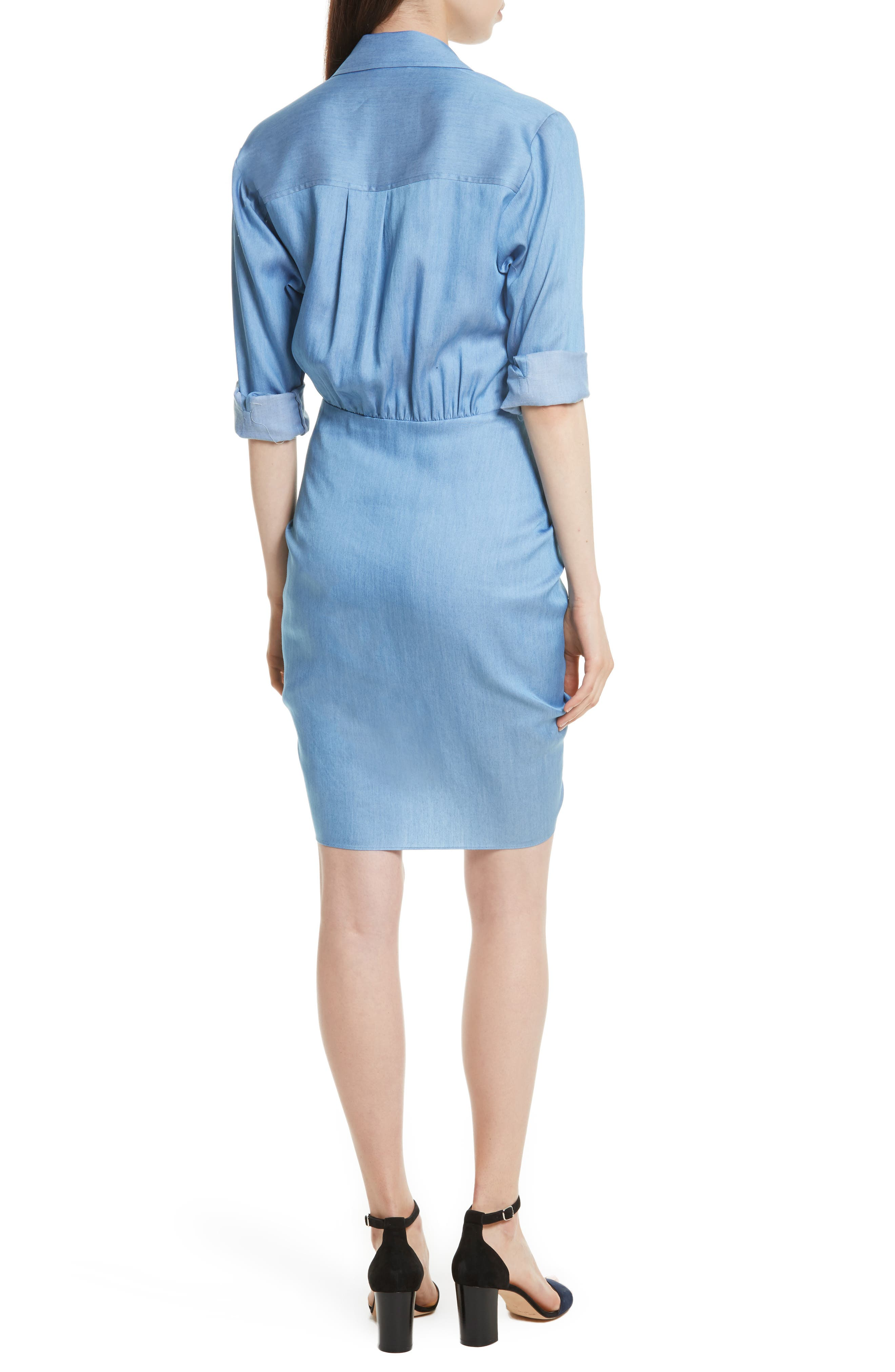 Sierra Ruched Shirtdress,                             Alternate thumbnail 2, color,                             423
