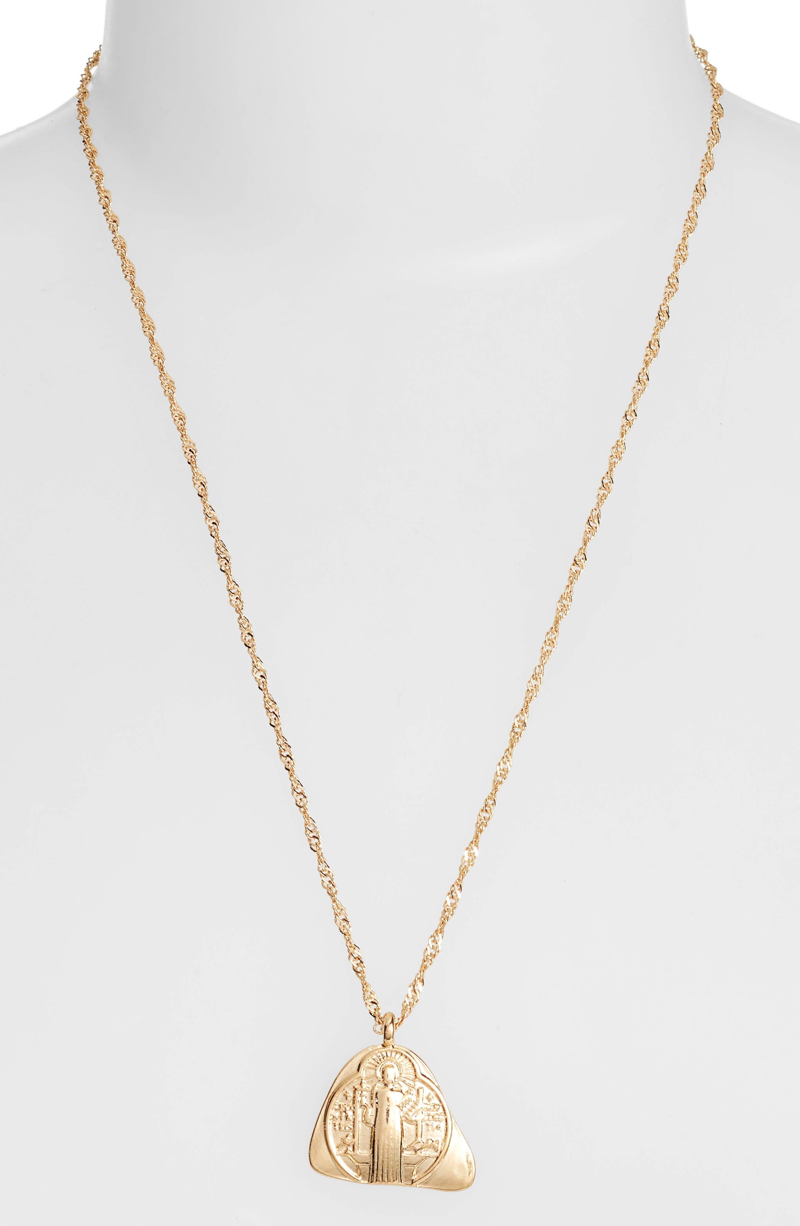 Charm Pendant Necklace,                             Alternate thumbnail 2, color,                             GOLD