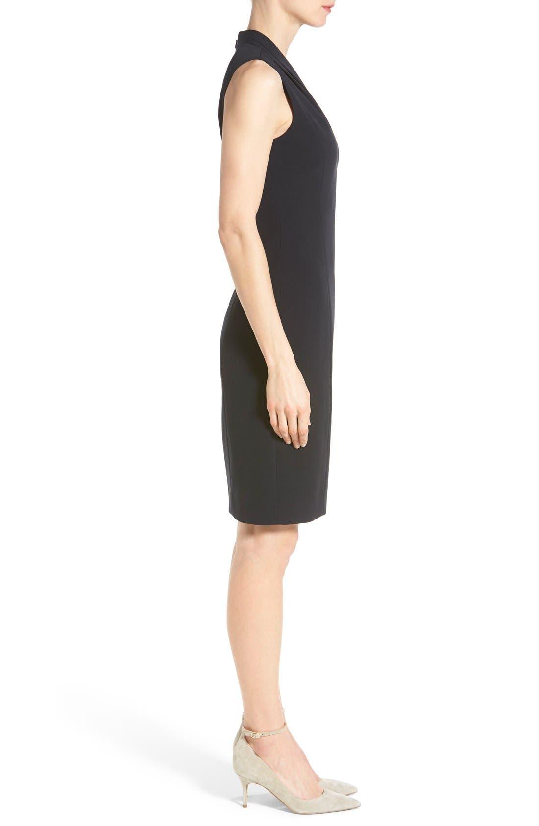 'Tonya' V-Neck Sheath Dress,                             Alternate thumbnail 6, color,