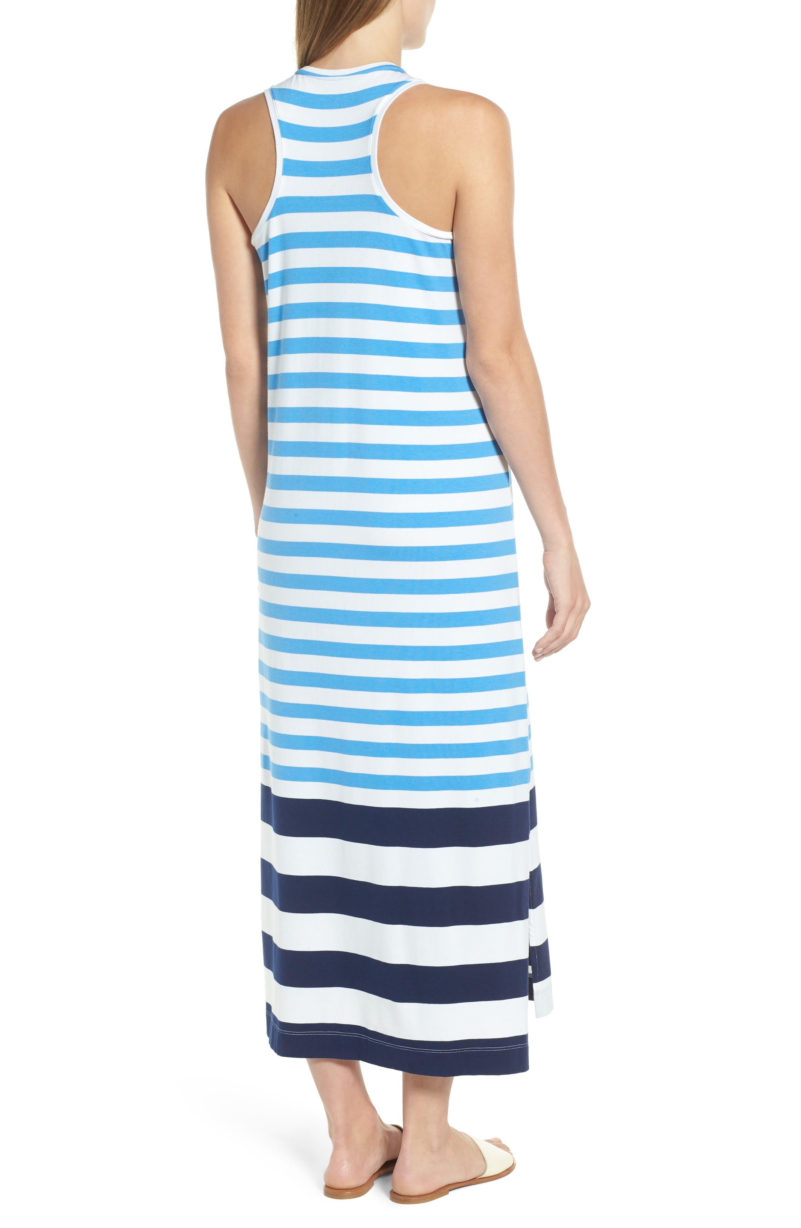 Striped Maxi Tank Dress,                             Alternate thumbnail 2, color,