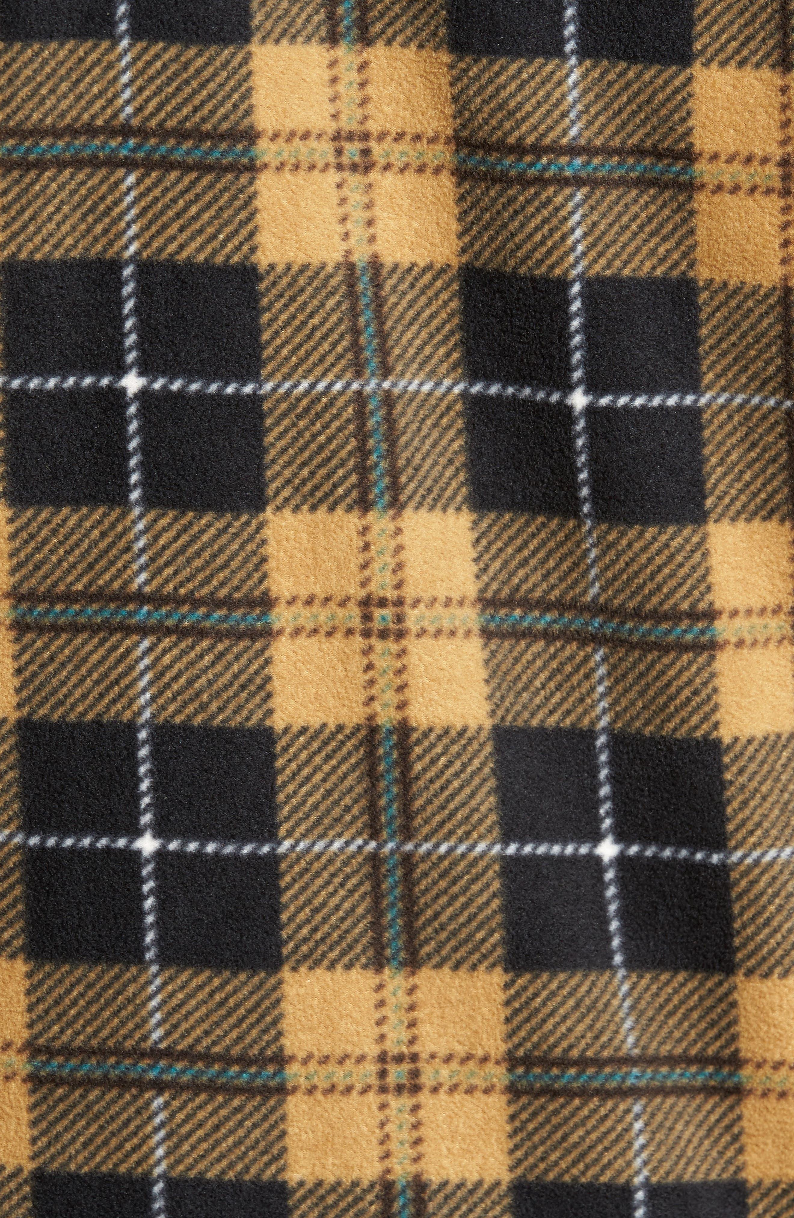 Glacier Plaid Fleece Flannel Shirt,                             Alternate thumbnail 21, color,