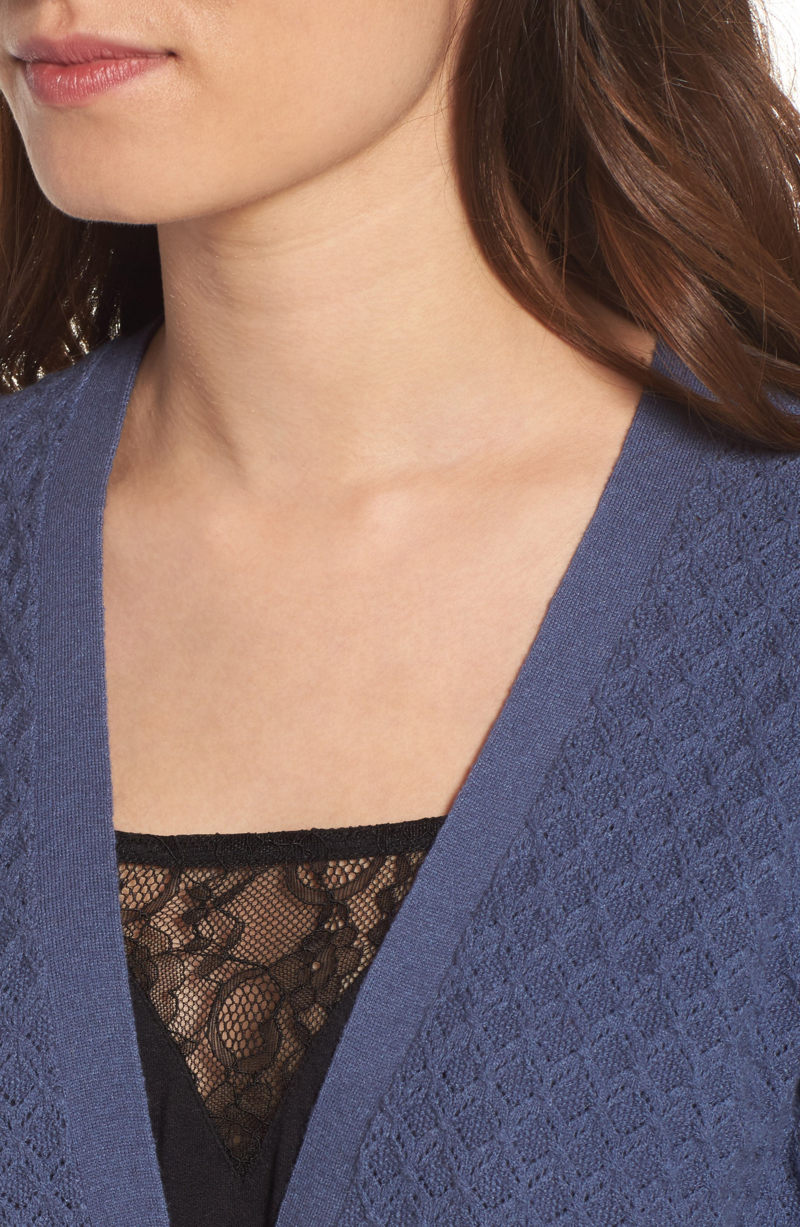 Pointelle Cardigan Sweater,                             Alternate thumbnail 15, color,