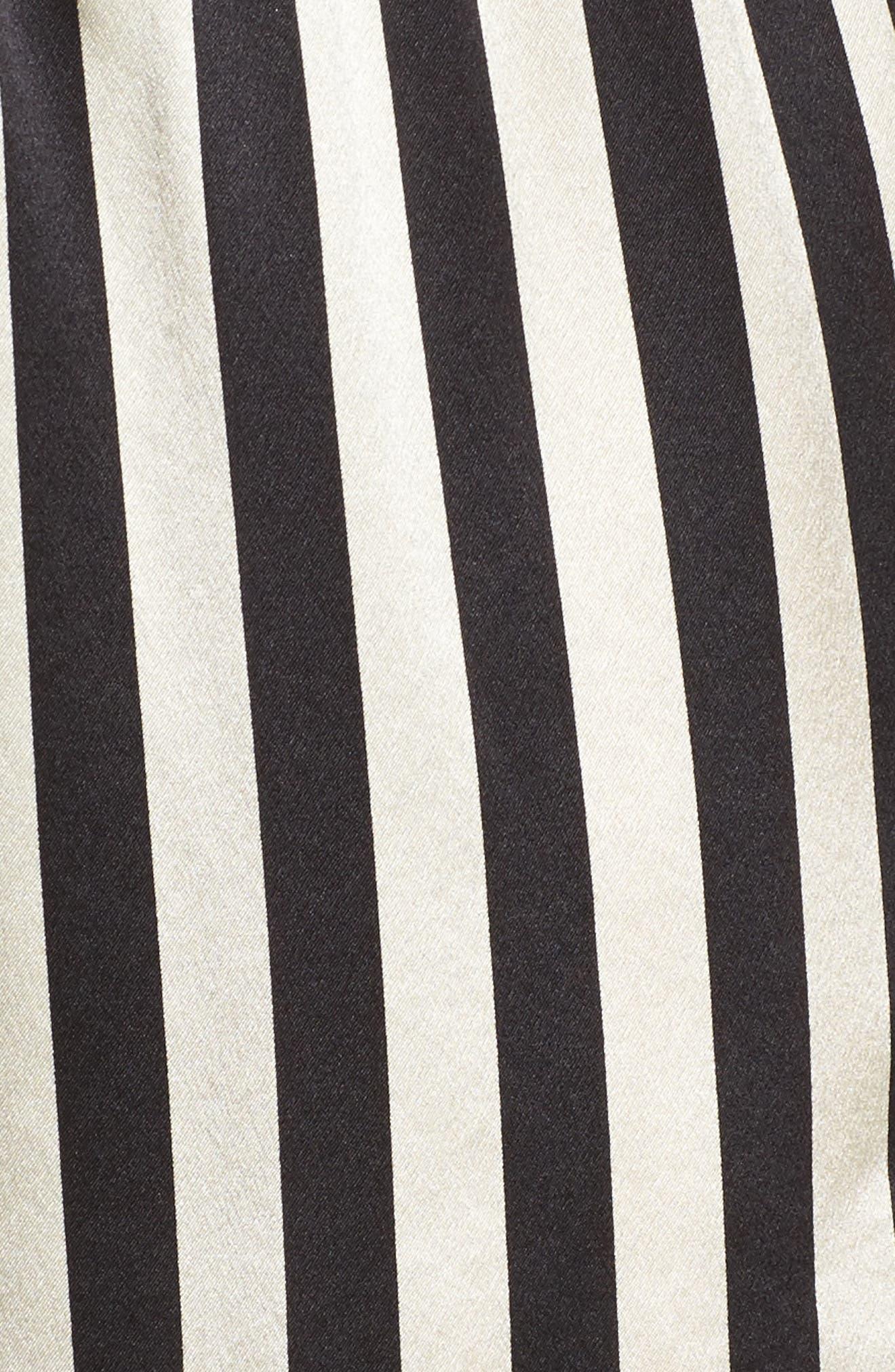 x Amanda Fatherazi Mini Mask Corey Stripe Silk Shorts,                             Alternate thumbnail 5, color,                             004