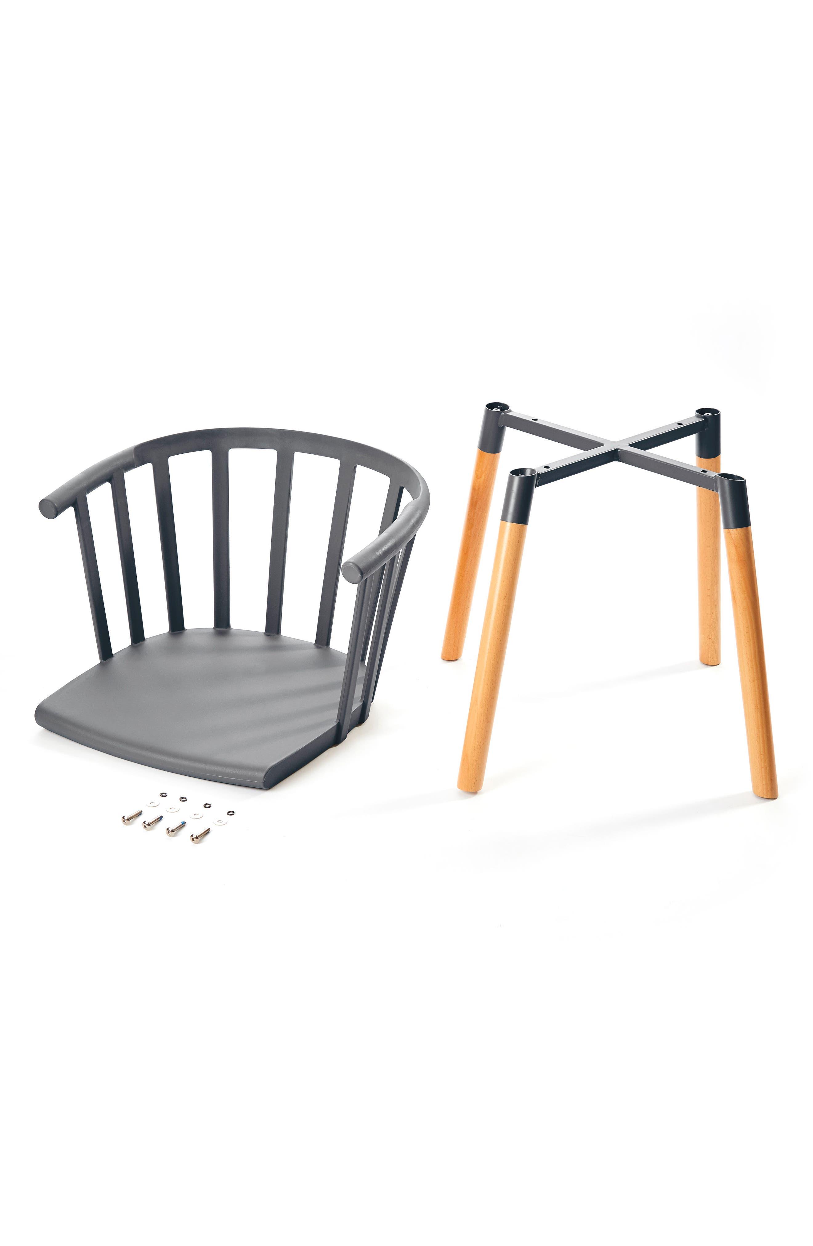 Kaptain Chair,                             Alternate thumbnail 2, color,                             MODEST GREY