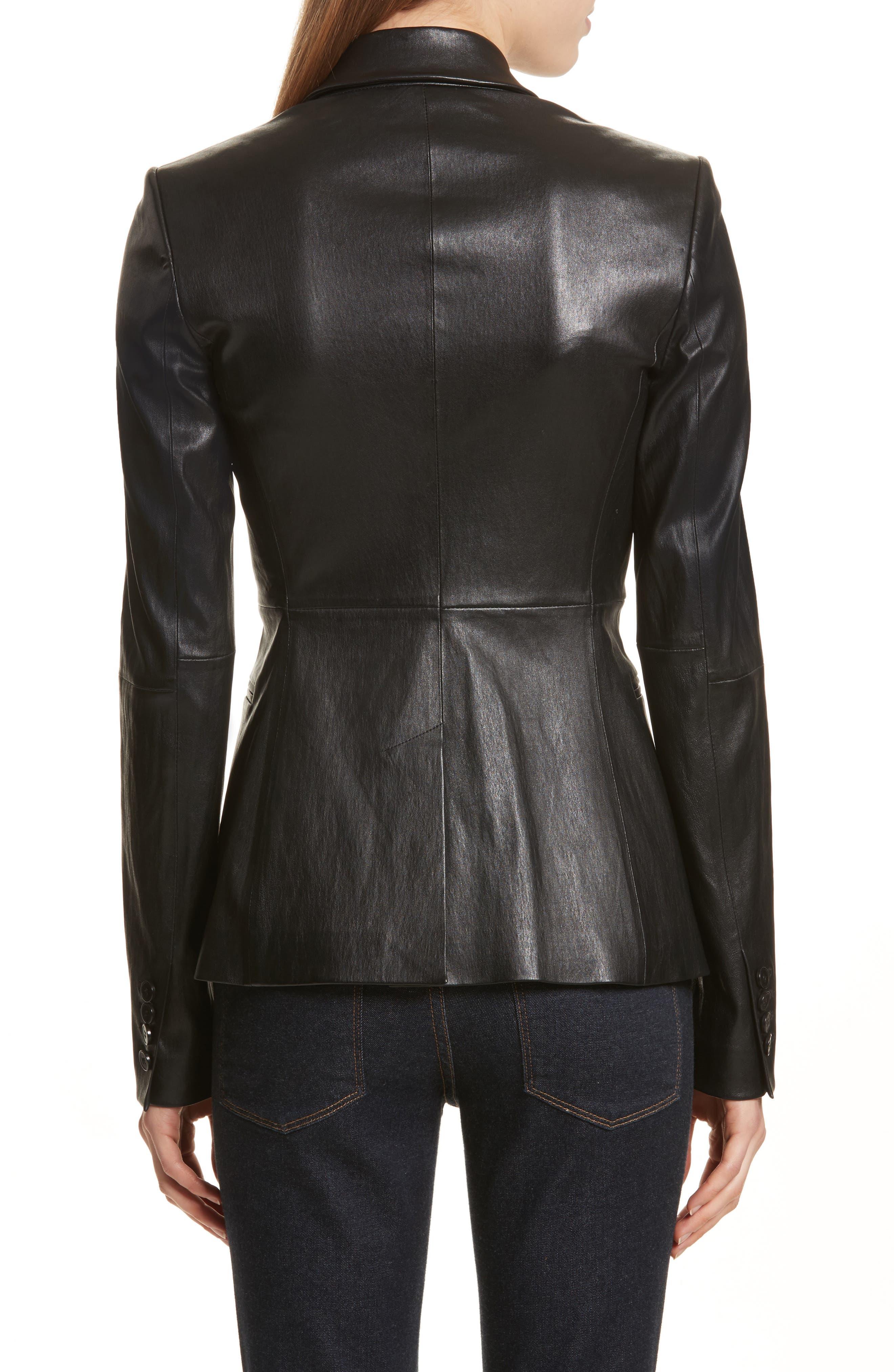Bristol Leather Blazer,                             Alternate thumbnail 2, color,                             001