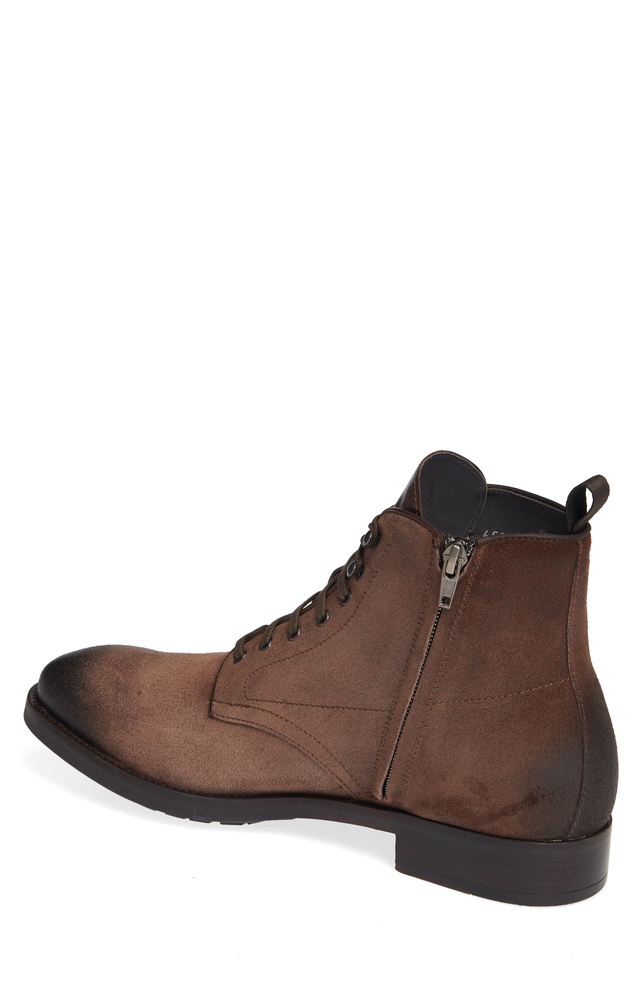 Athens Plain Toe Boot,                             Alternate thumbnail 2, color,                             TMORO SUEDE/ LEATHER