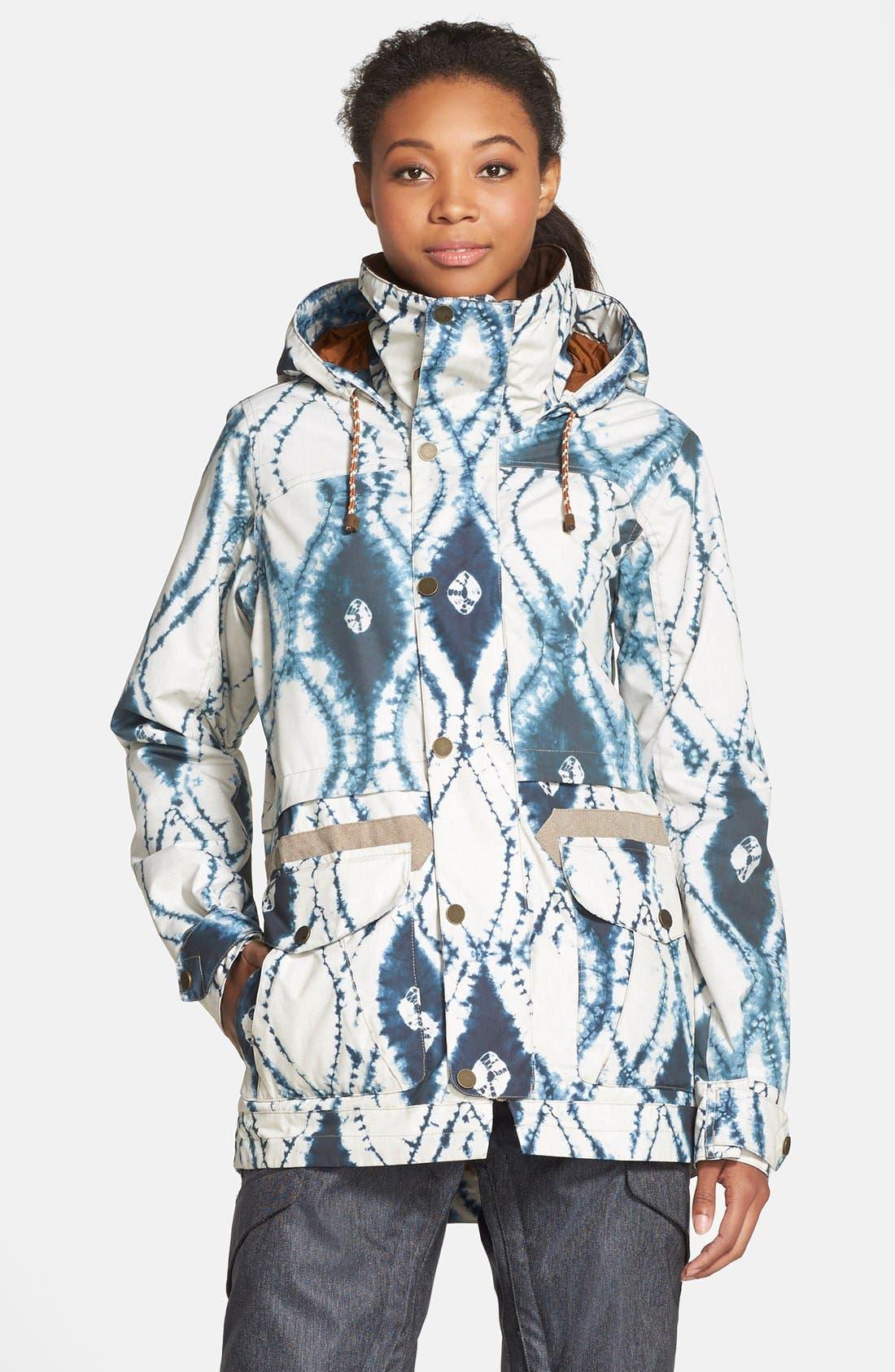 'Fremont' Tie Dye Waterproof Jacket,                             Main thumbnail 1, color,                             921