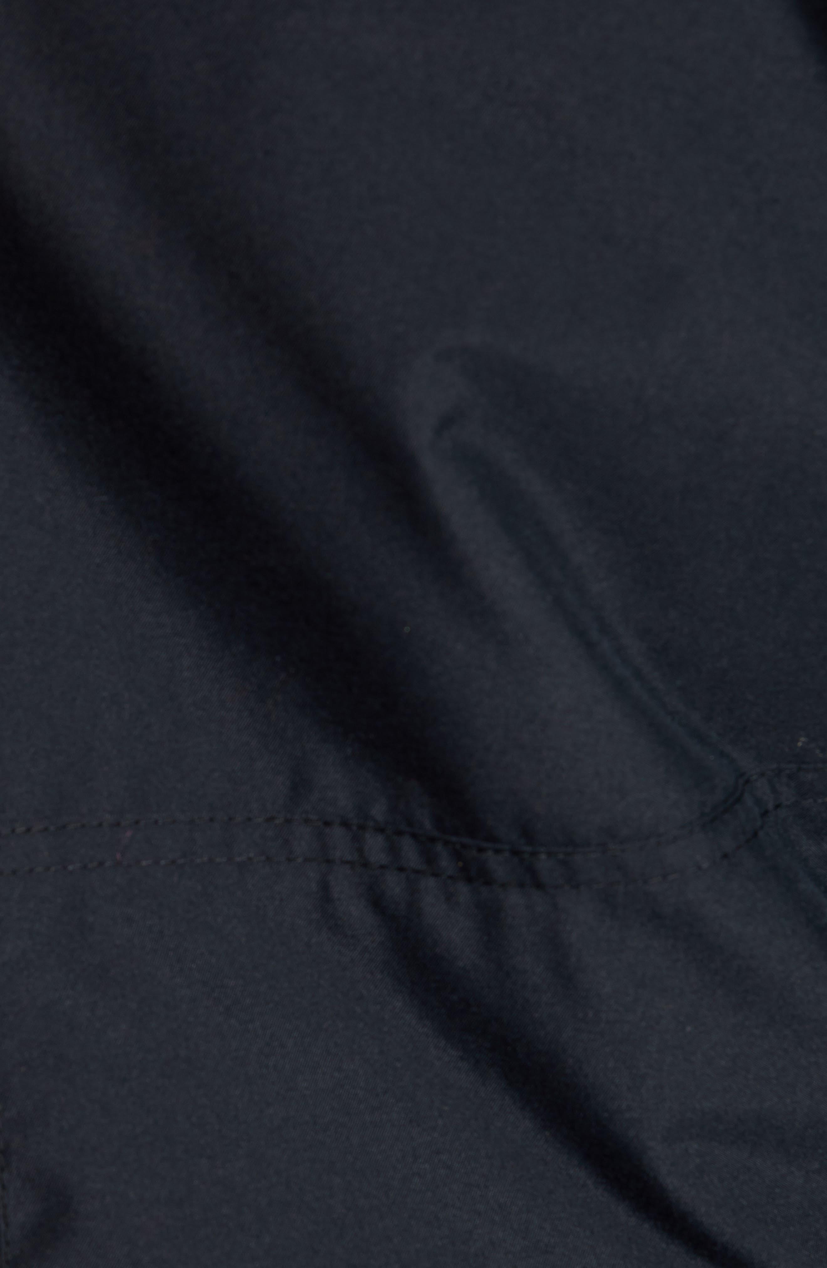 ROXY,                             Shelter Faux Fur Hood Anorak,                             Alternate thumbnail 7, color,                             TRUE BLACK