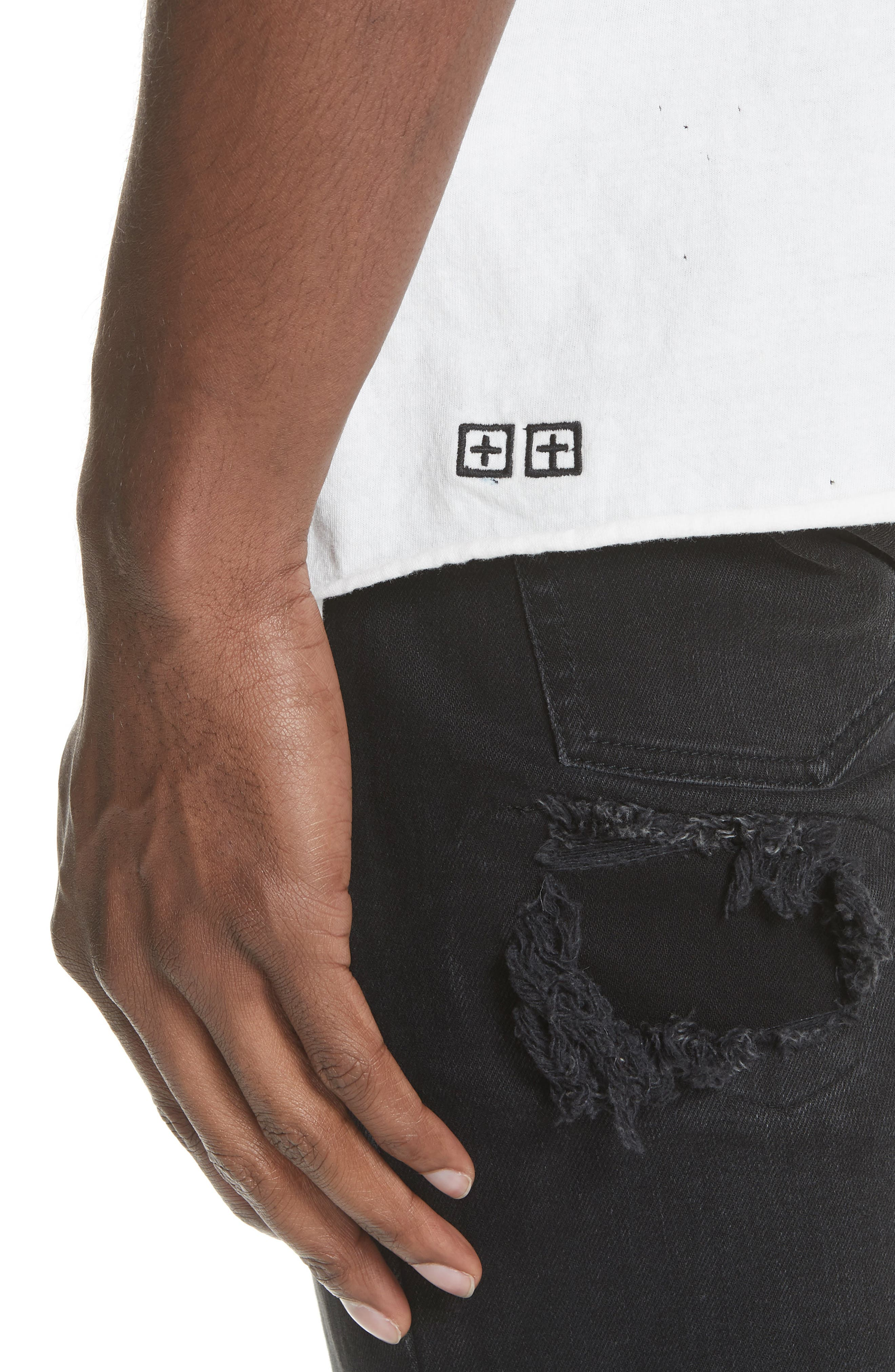 Kodeine Crewneck T-Shirt,                             Alternate thumbnail 4, color,                             WHITE