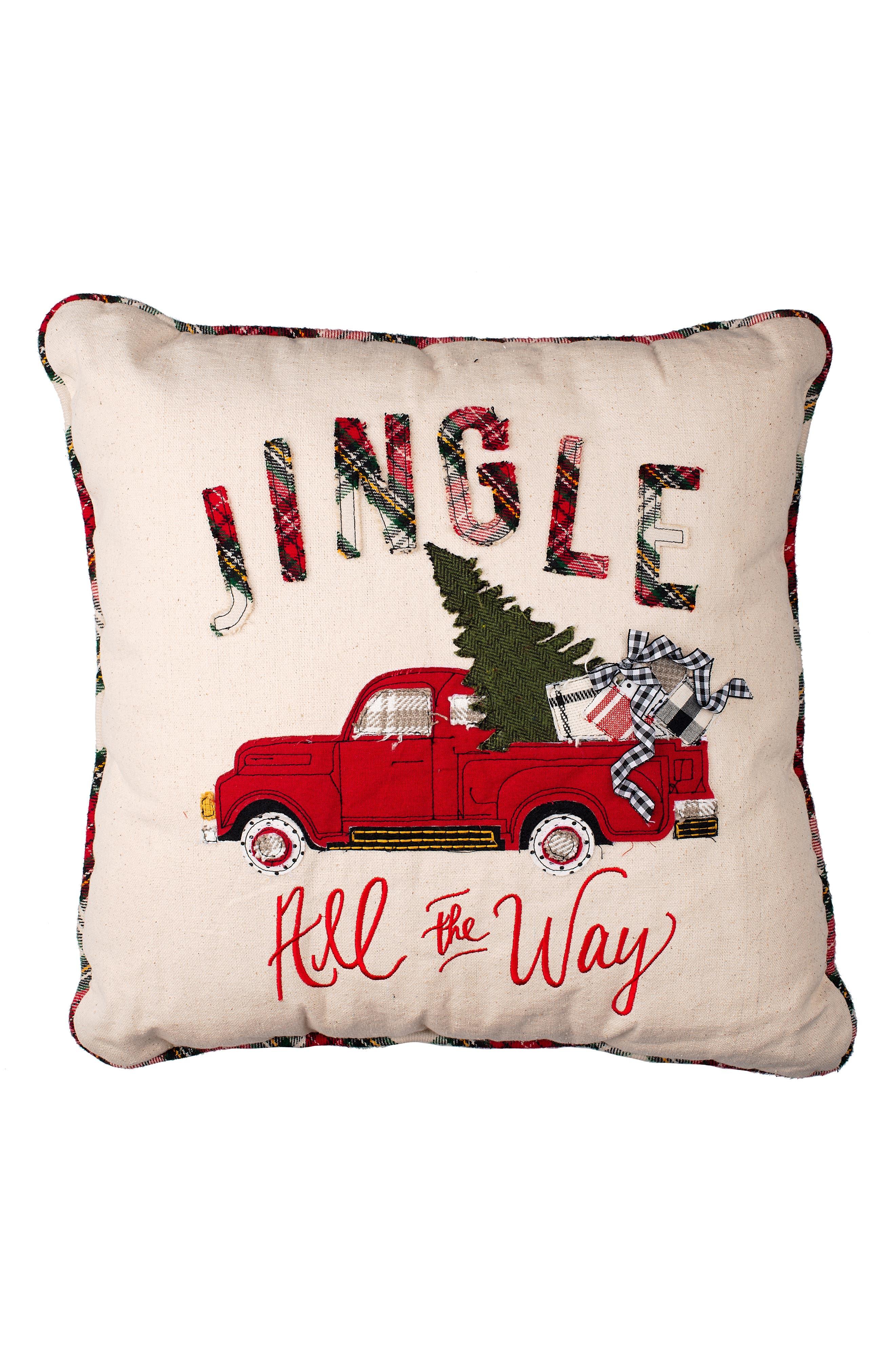 GLORY HAUS,                             Jingle All the Way Pillow,                             Main thumbnail 1, color,                             100