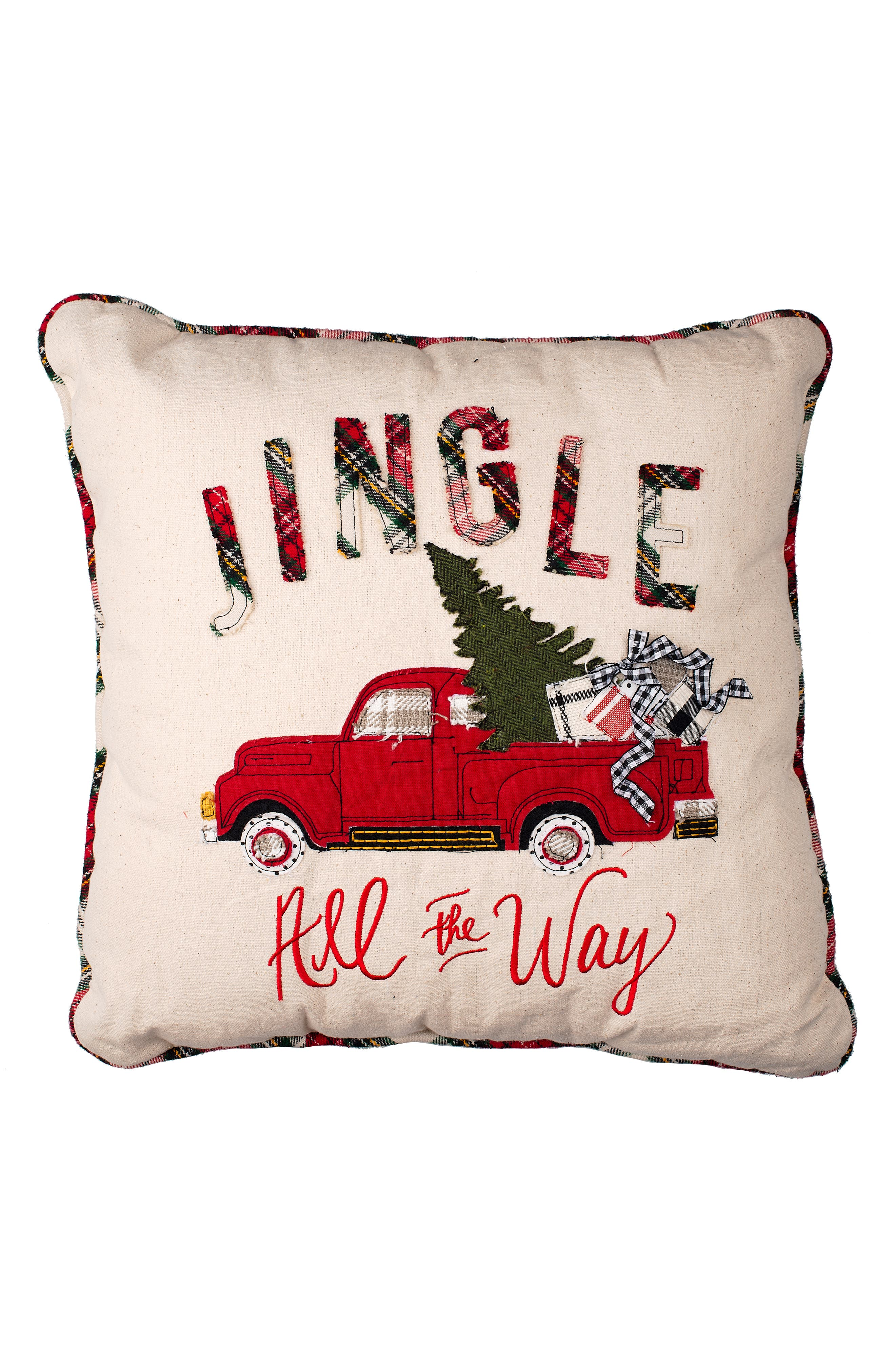 GLORY HAUS Jingle All the Way Pillow, Main, color, 100