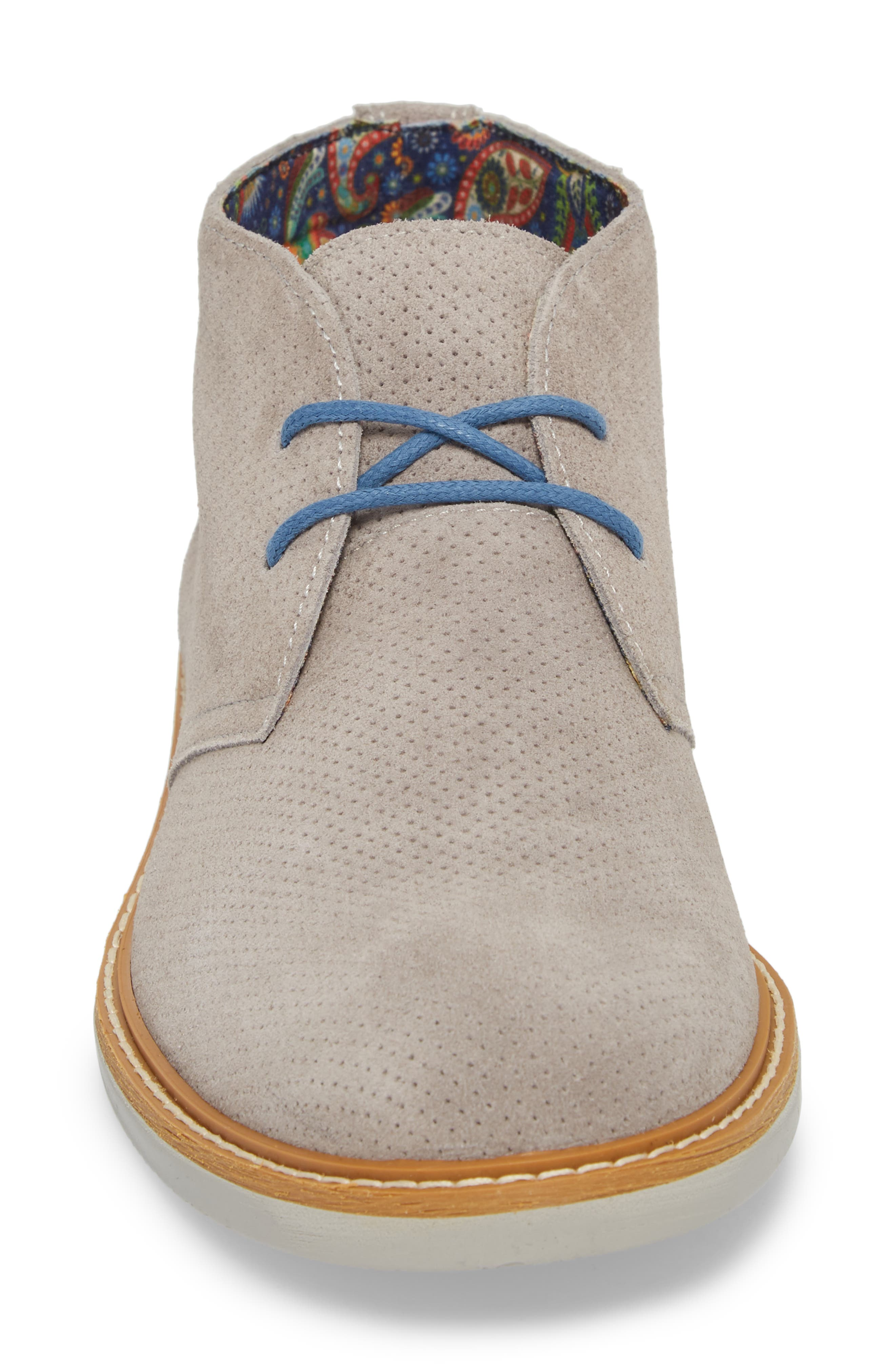 Bayside Perforated Chukka Boot,                             Alternate thumbnail 4, color,                             020