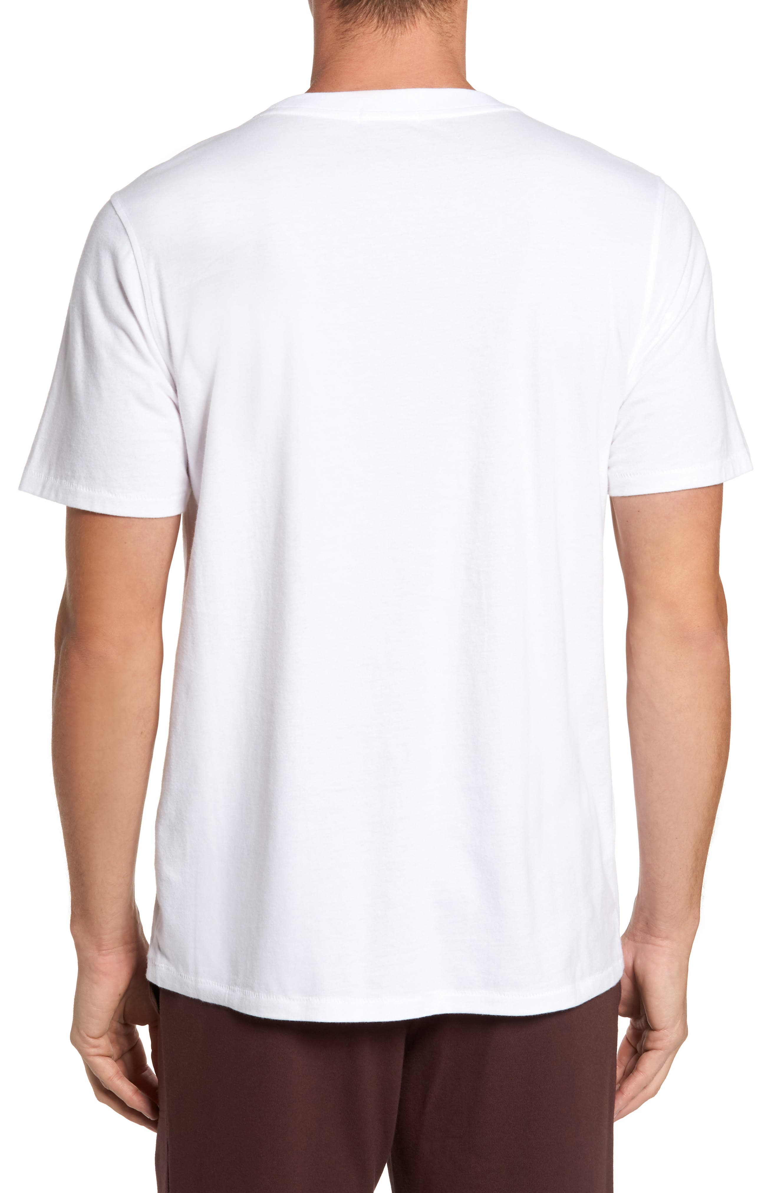 Benjamin Crewneck T-Shirt,                             Alternate thumbnail 2, color,                             WHITE