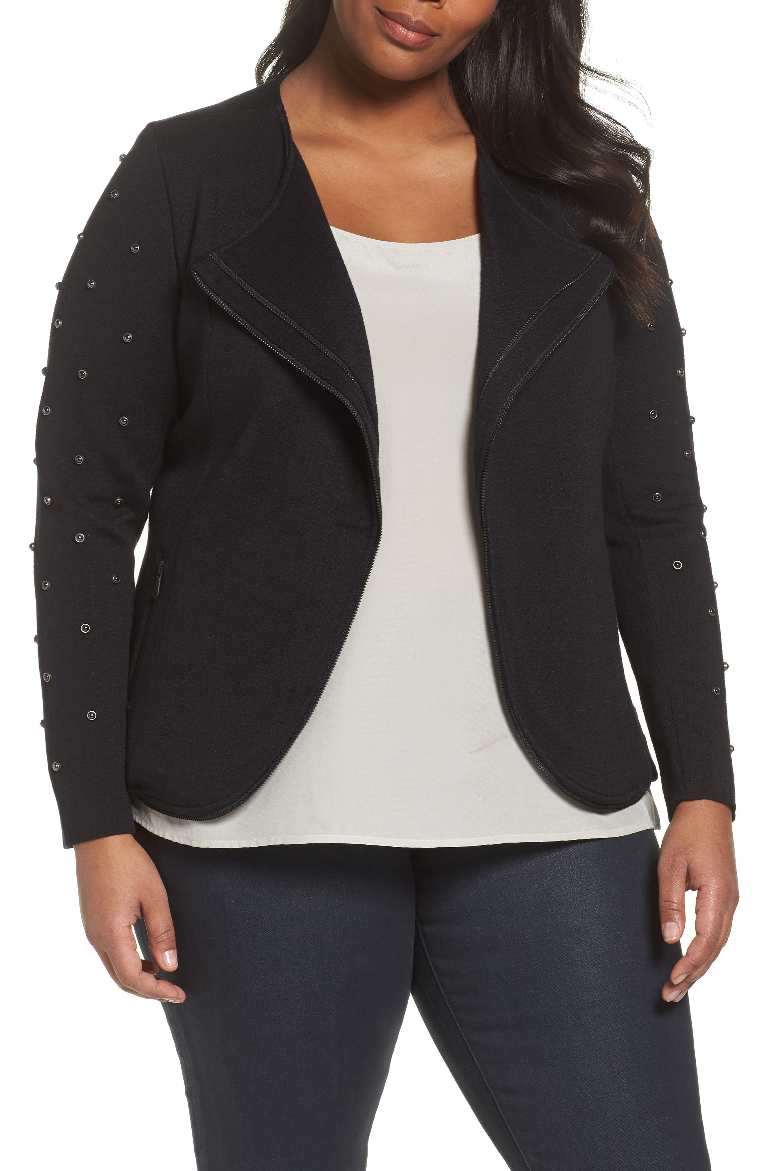 Modern Stud Jacket,                             Main thumbnail 1, color,                             004