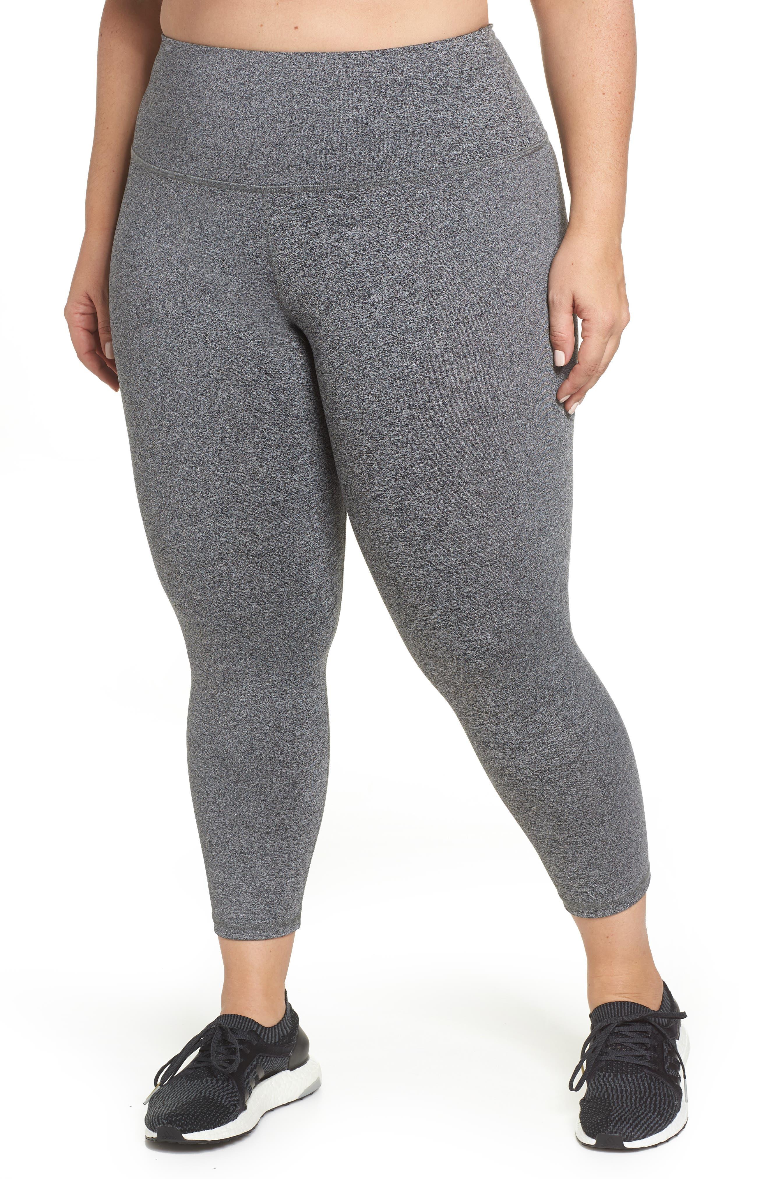 Plus Size Lola Getts Lola High Waist Skinny Capri Leggings, Grey