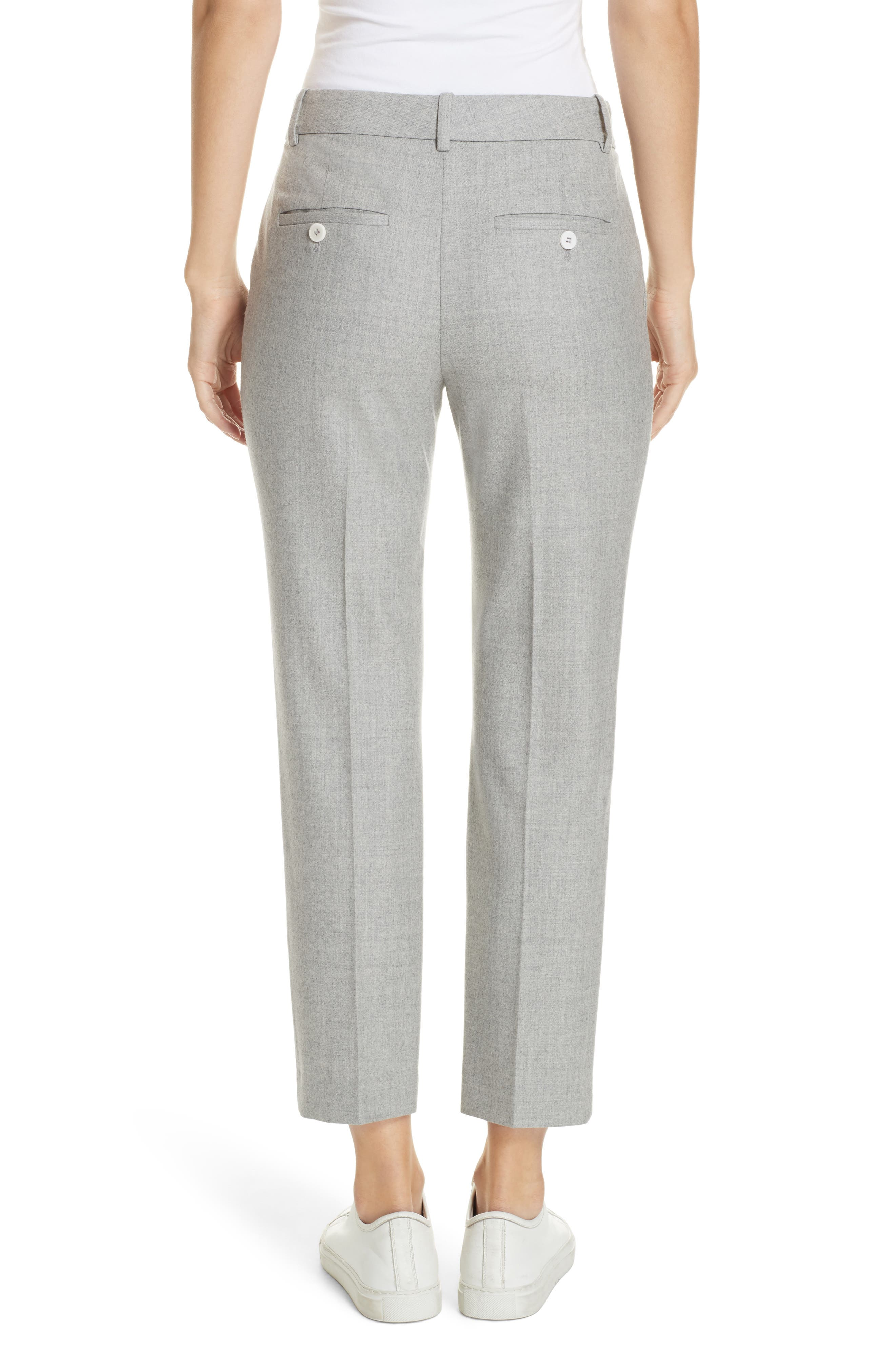 Treeca Flannel Ankle Pants,                             Alternate thumbnail 2, color,                             PALE GREY