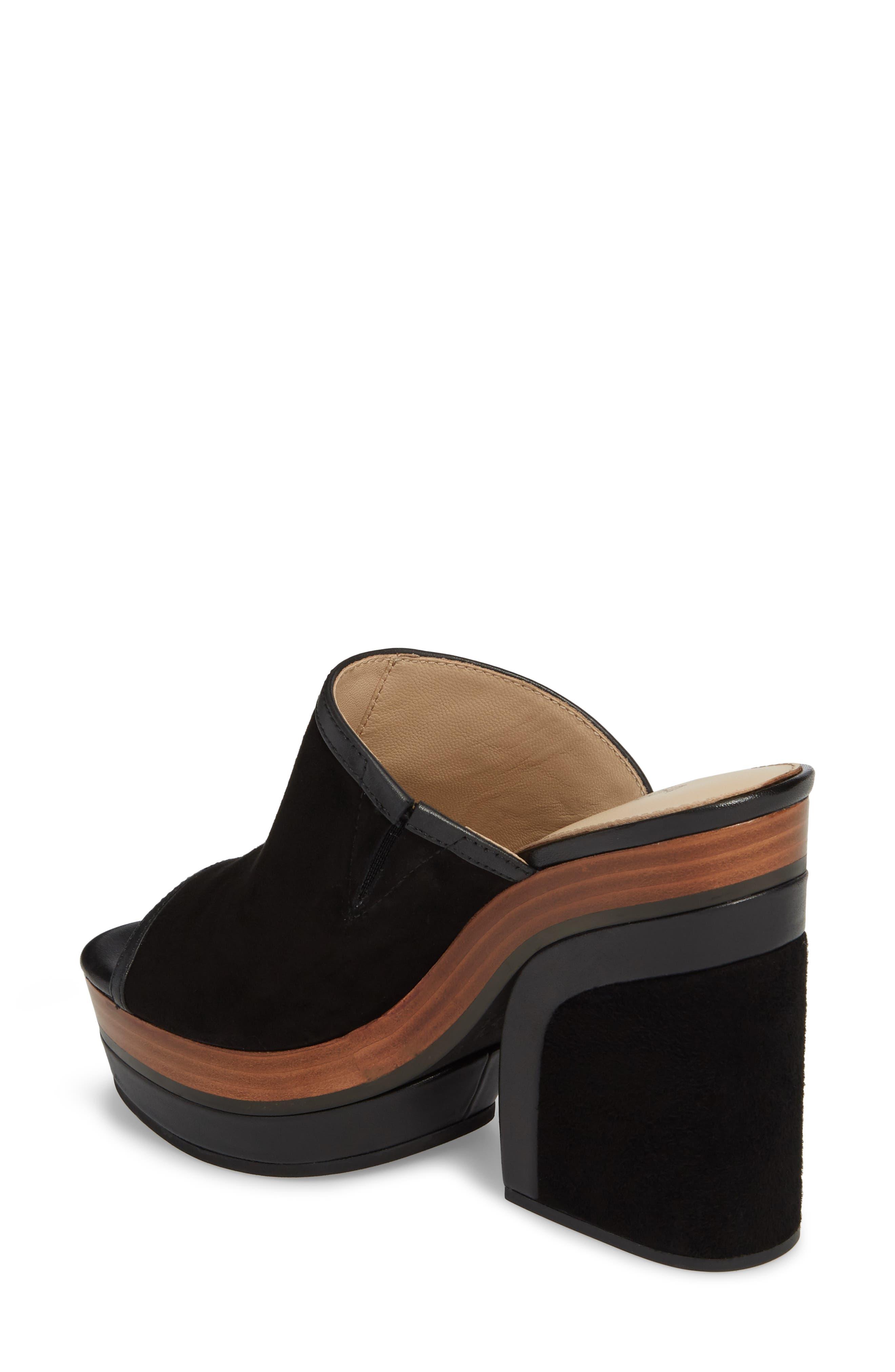 Platform Sandal,                             Alternate thumbnail 2, color,                             BLACK SUEDE