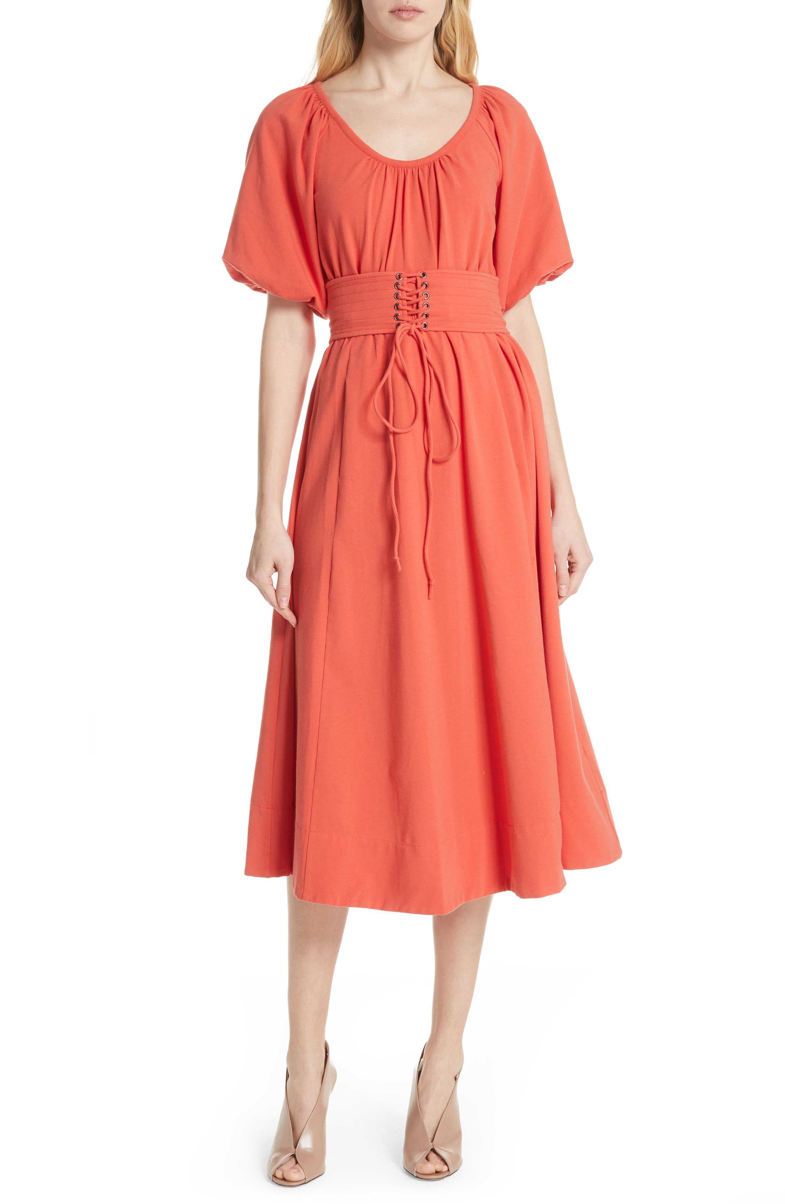 Corseted Peasant Dress,                         Main,                         color, 950
