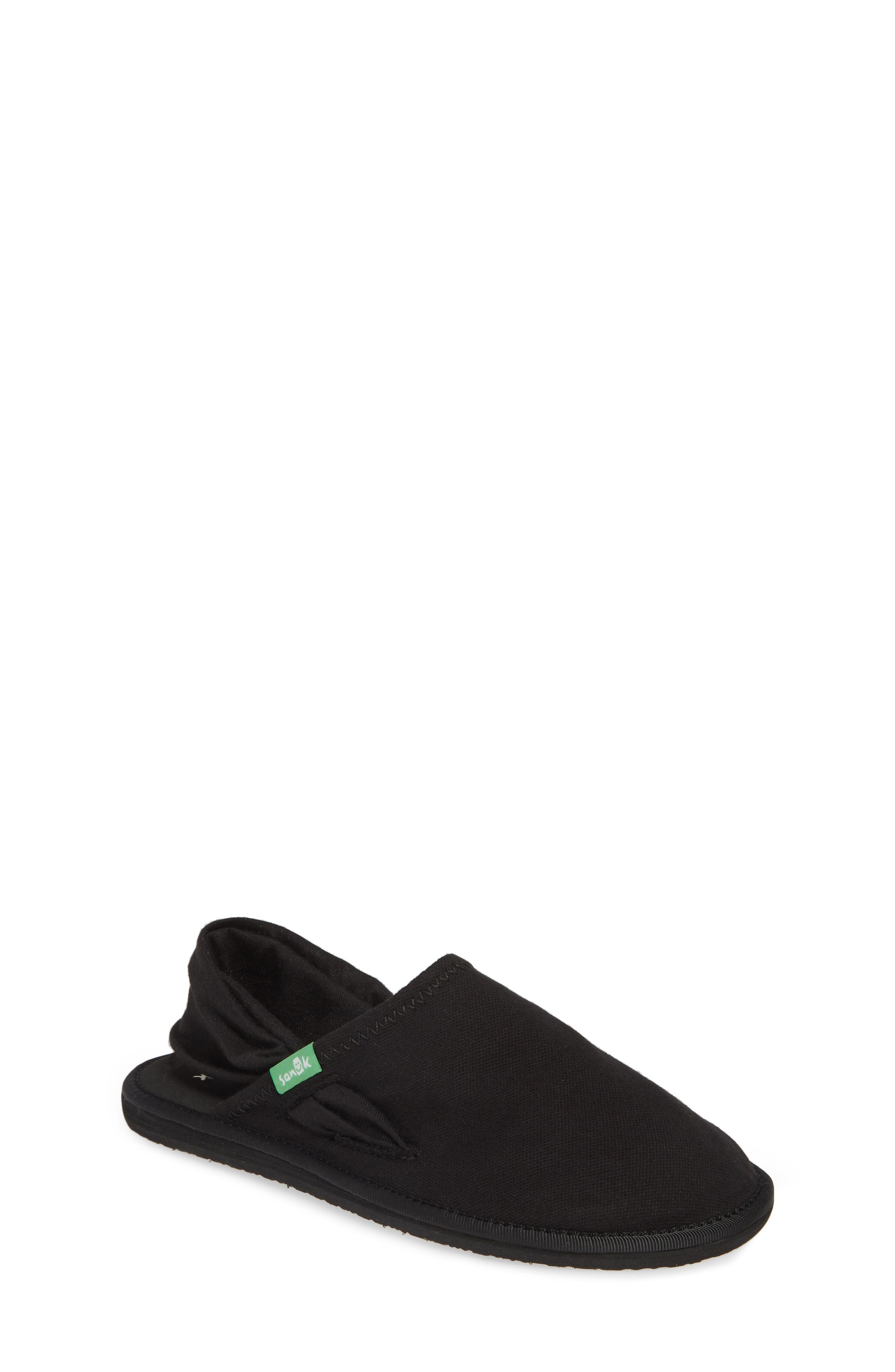 SANUK Lil Yoga Sling Cruz Slip-On, Main, color, BLACK