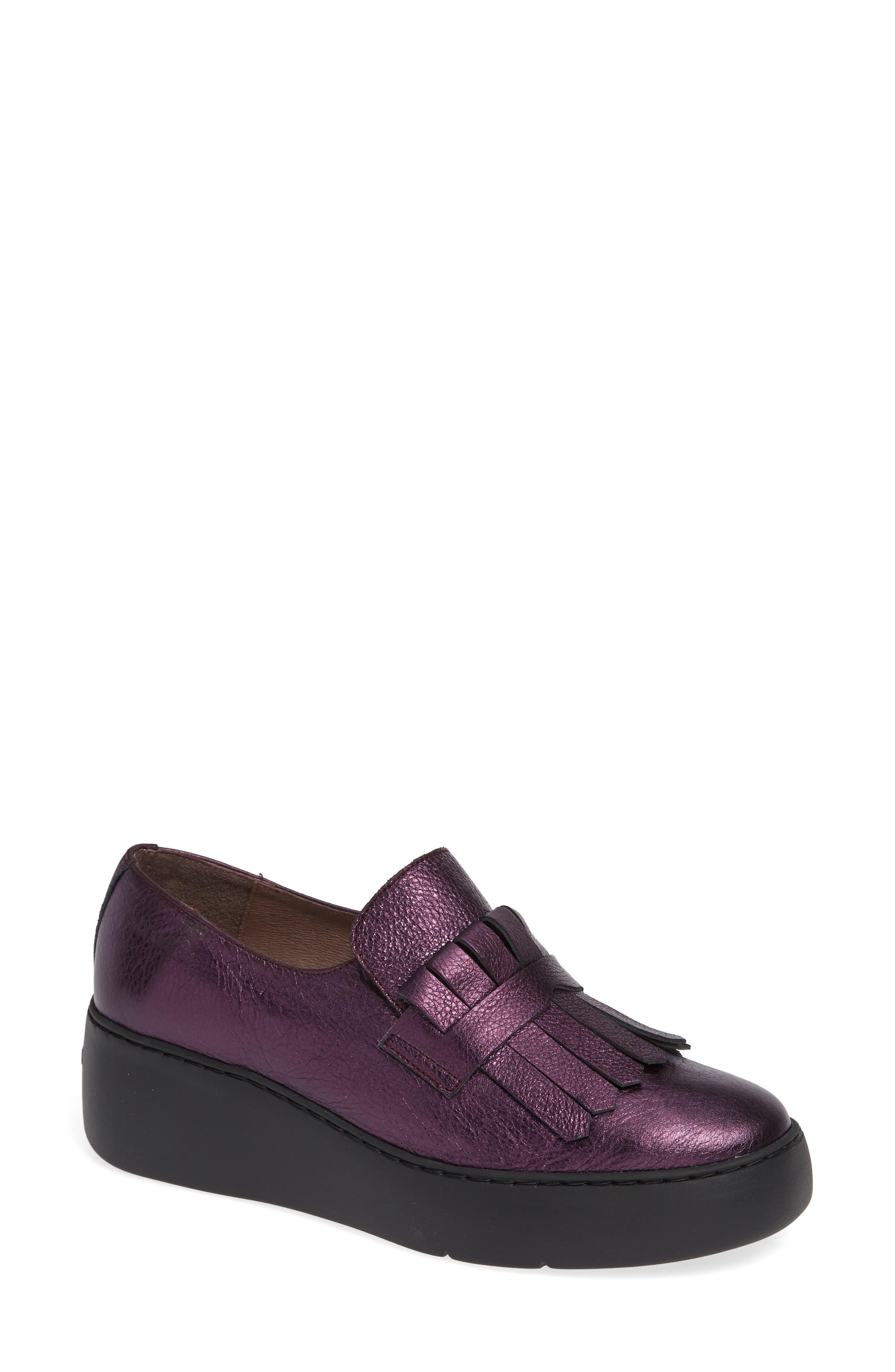 Wonders Kiltie Platform Loafer, Purple