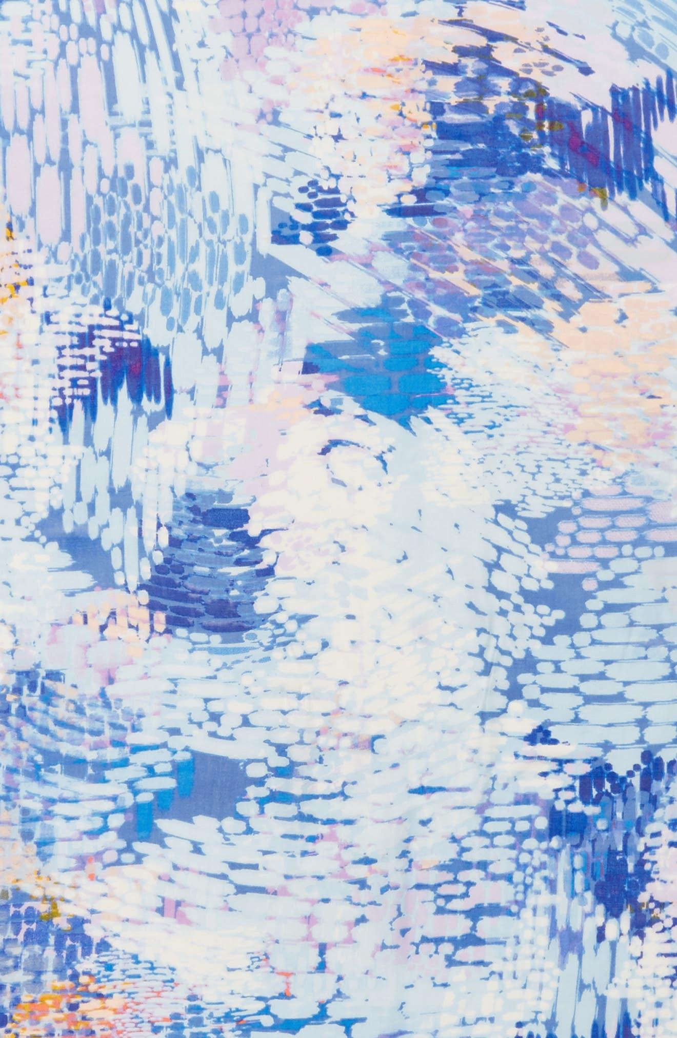 Eyelash Trim Print Cashmere & Silk Wrap,                             Alternate thumbnail 106, color,