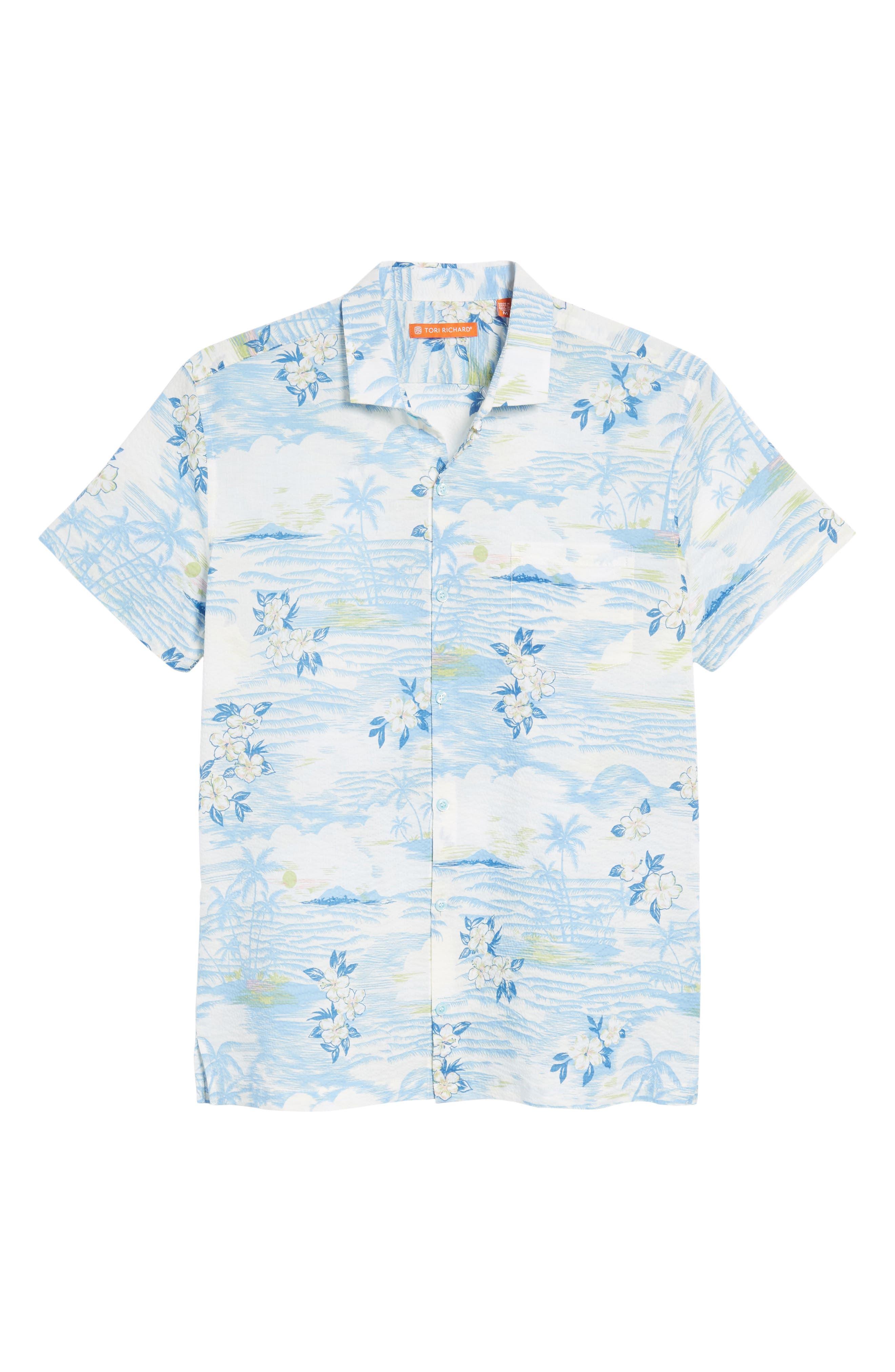 Tropic Dream Lawn Sport Shirt,                             Alternate thumbnail 6, color,                             409