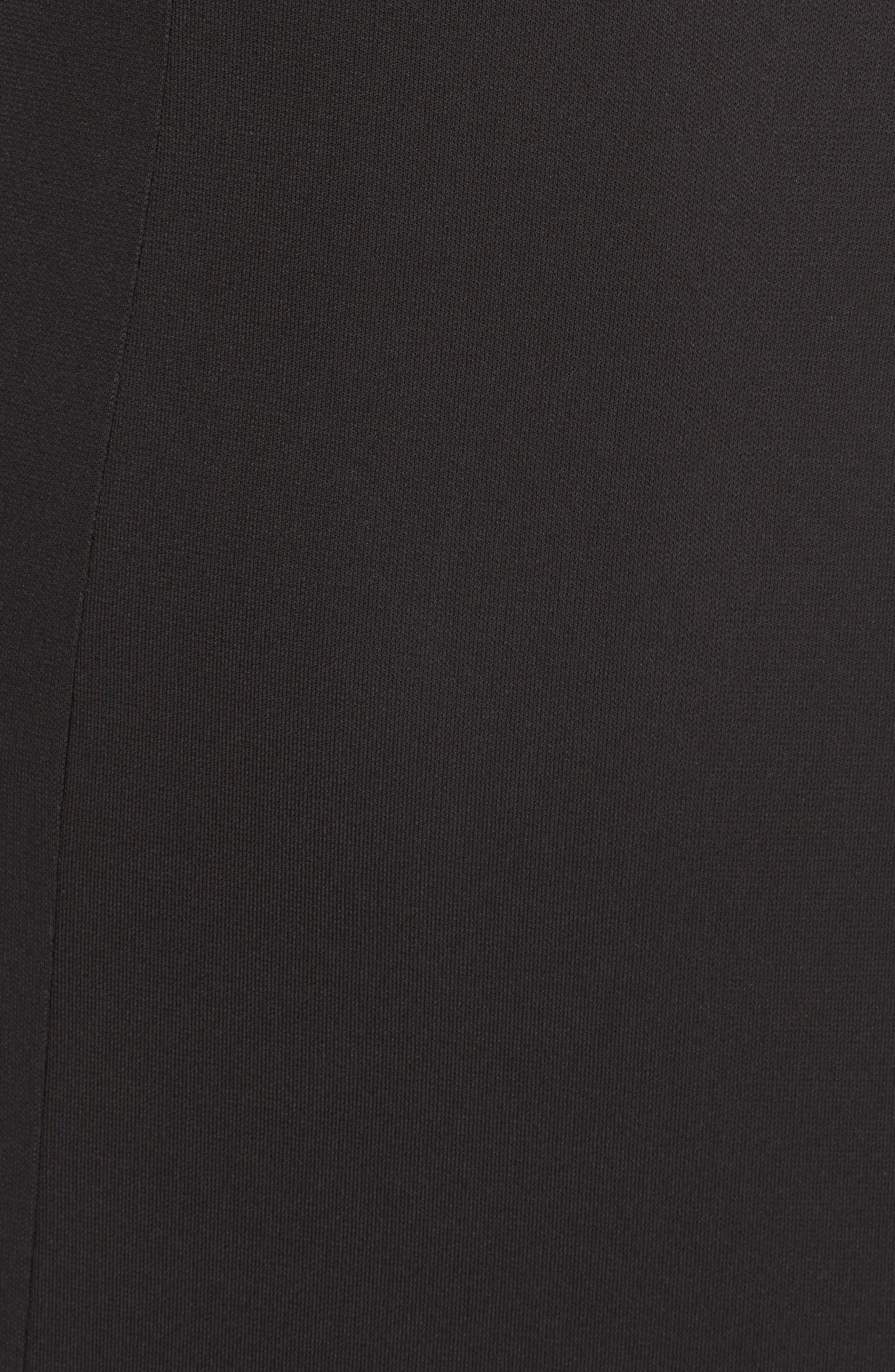 Jersey & Satin Dress,                             Alternate thumbnail 5, color,                             001