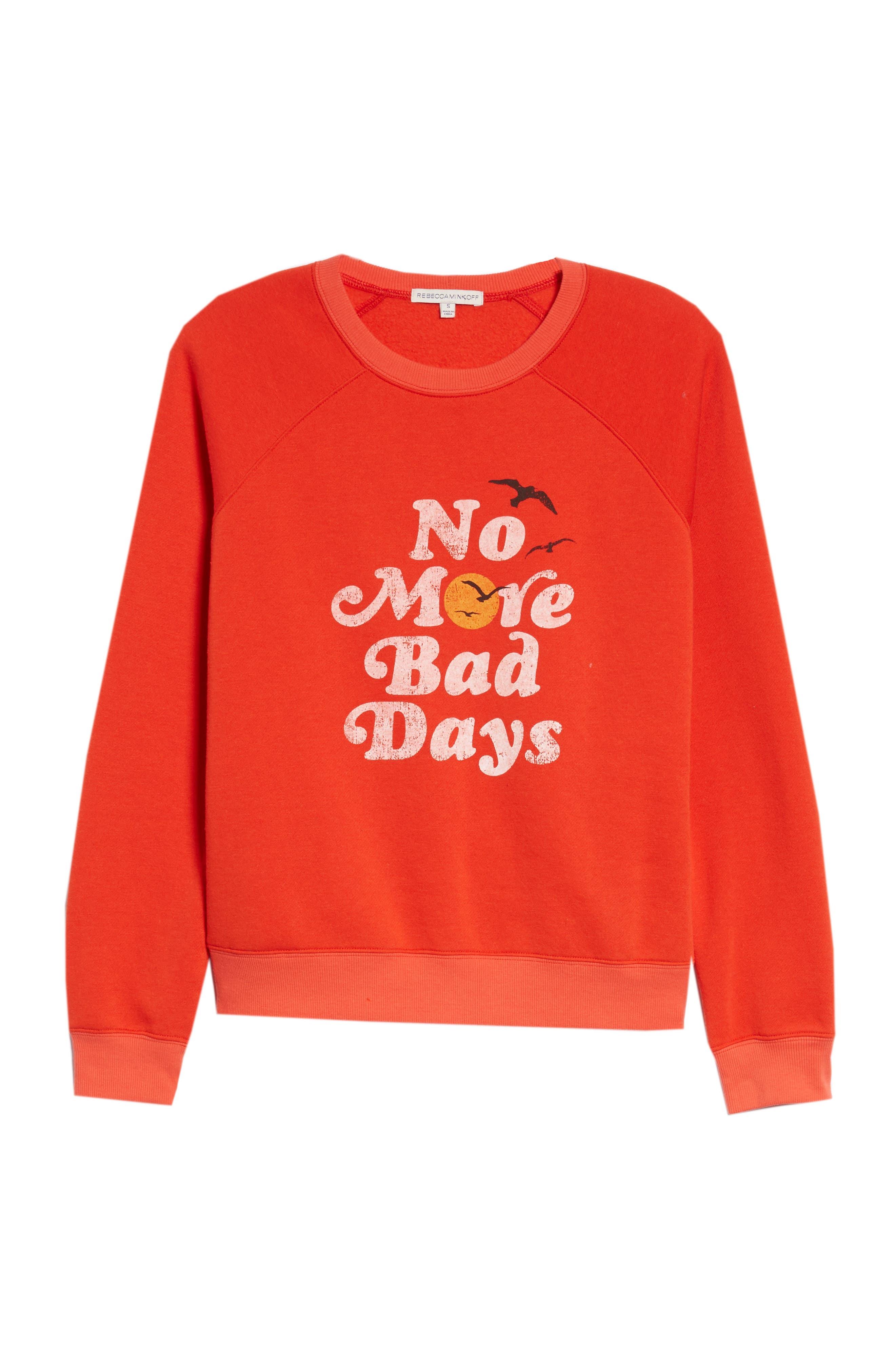 No Bad Days Sweatshirt,                             Alternate thumbnail 6, color,                             607