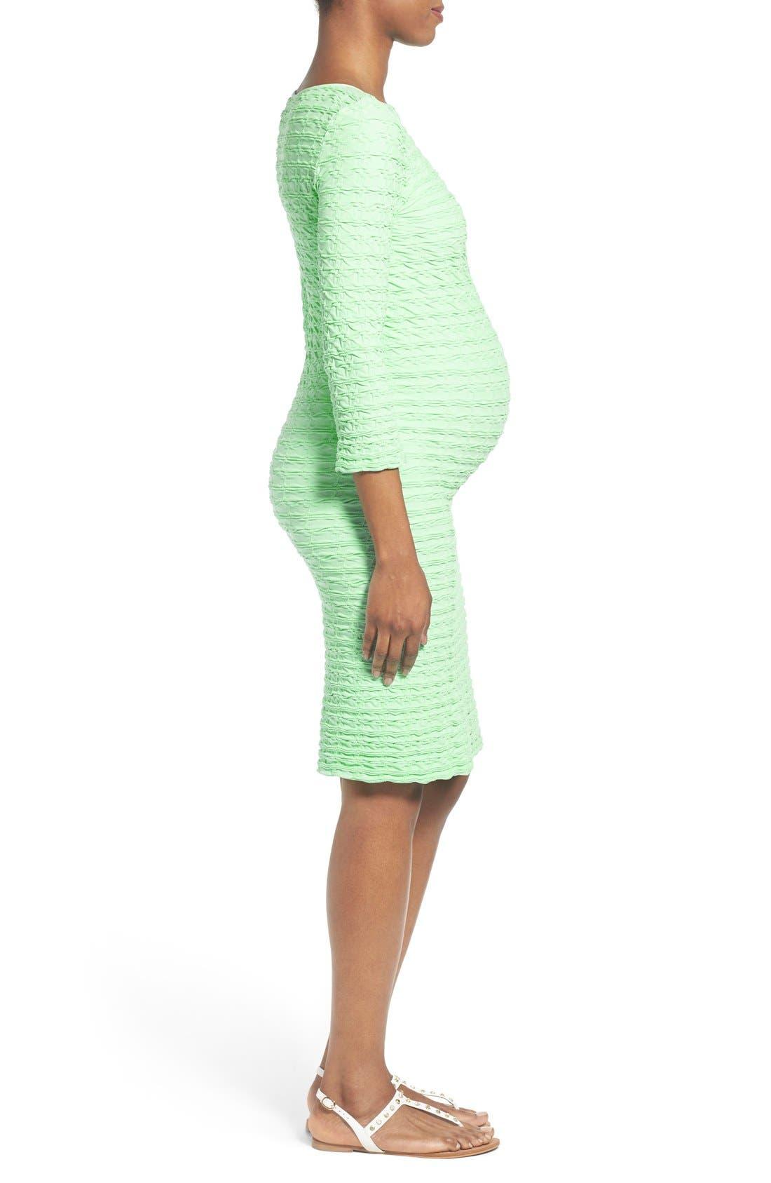 'Crinkle' Maternity Midi Dress,                             Alternate thumbnail 16, color,