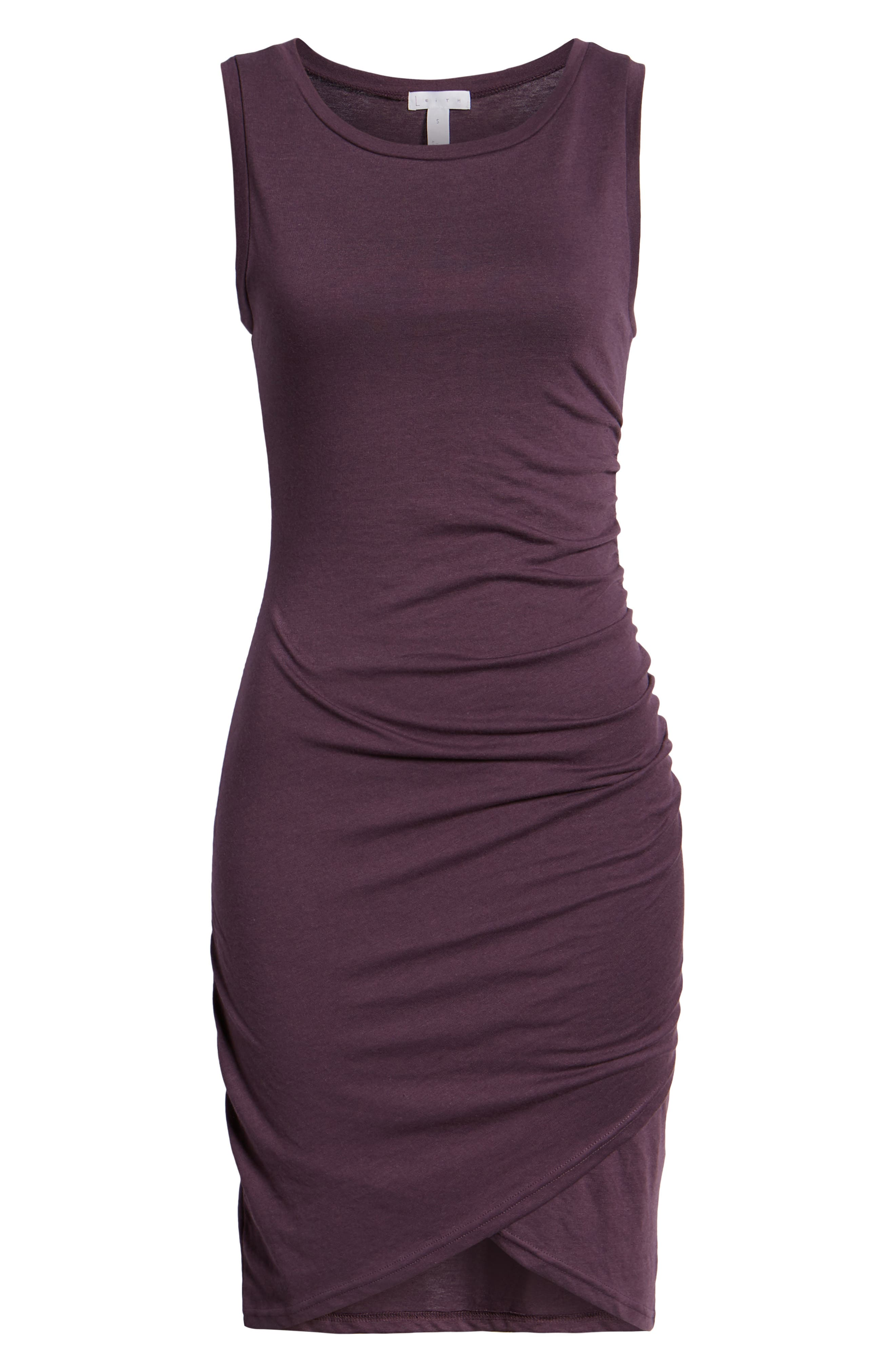 Ruched Body-Con Tank Dress,                             Alternate thumbnail 7, color,                             503