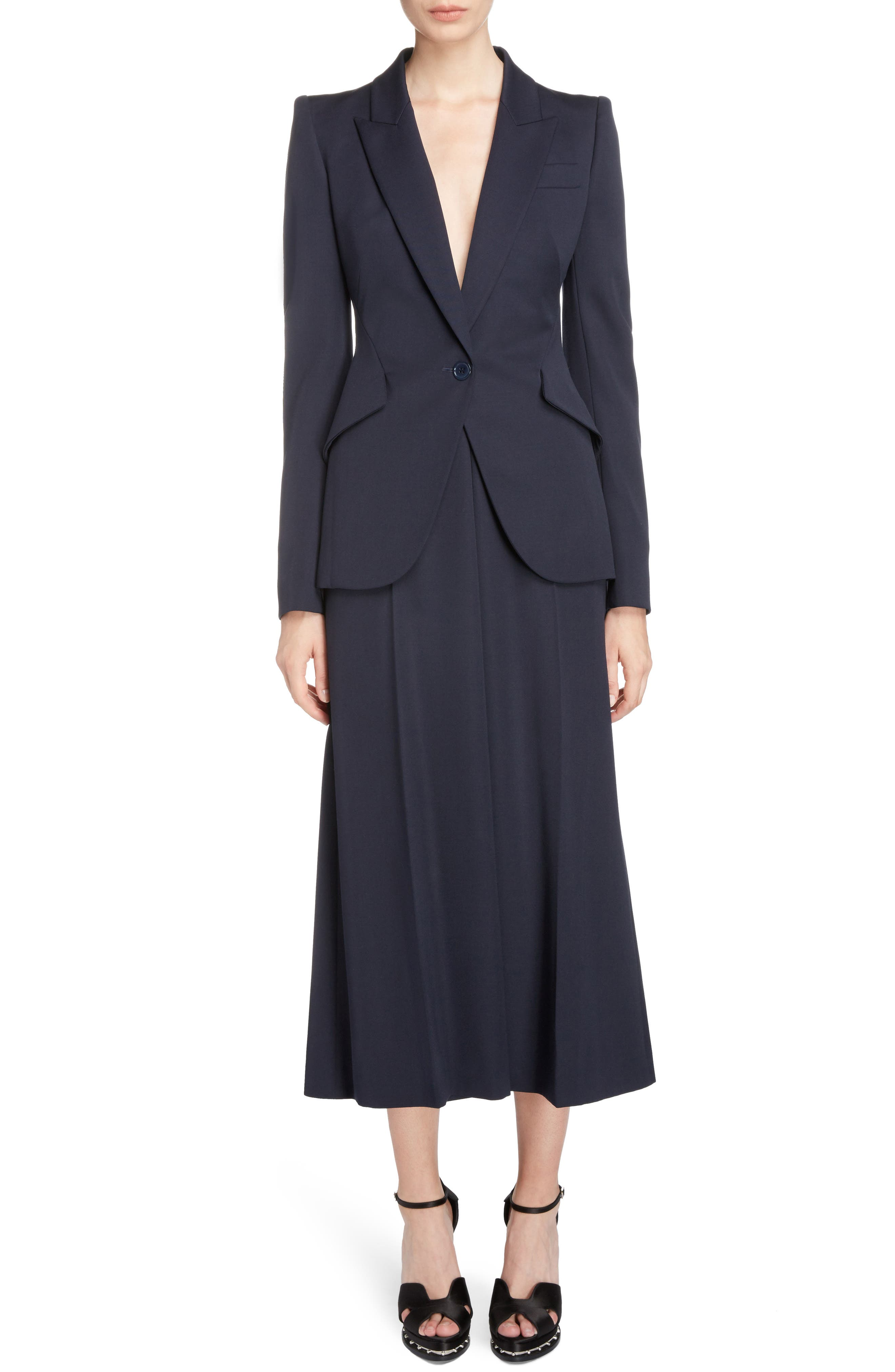 Wool Culottes,                             Alternate thumbnail 6, color,