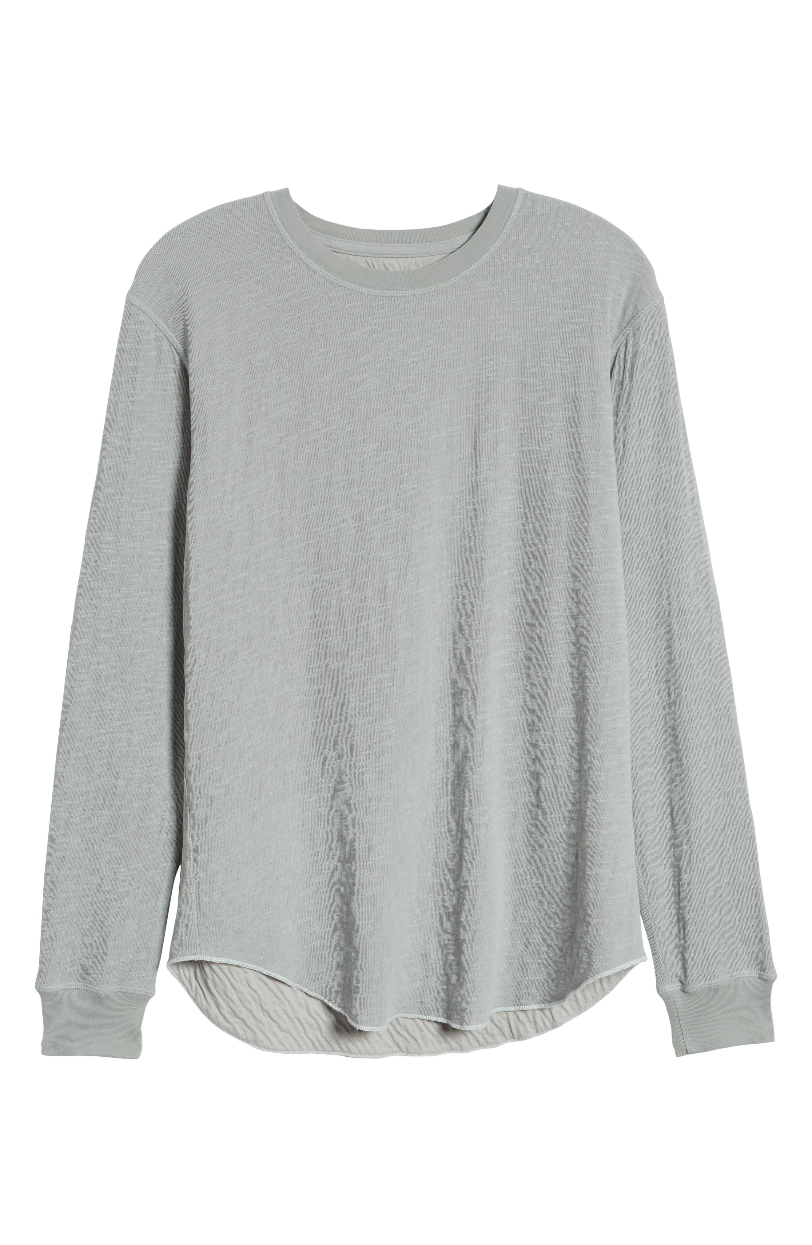 GOODLIFE,                             Double Layer Slim Crewneck T-Shirt,                             Alternate thumbnail 6, color,                             QUARRY