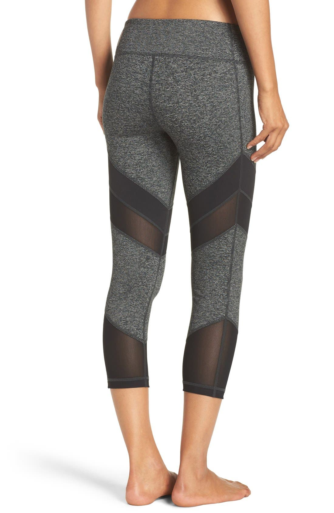 'Live In - Electric Mix' Crop Leggings,                         Main,                         color, 001