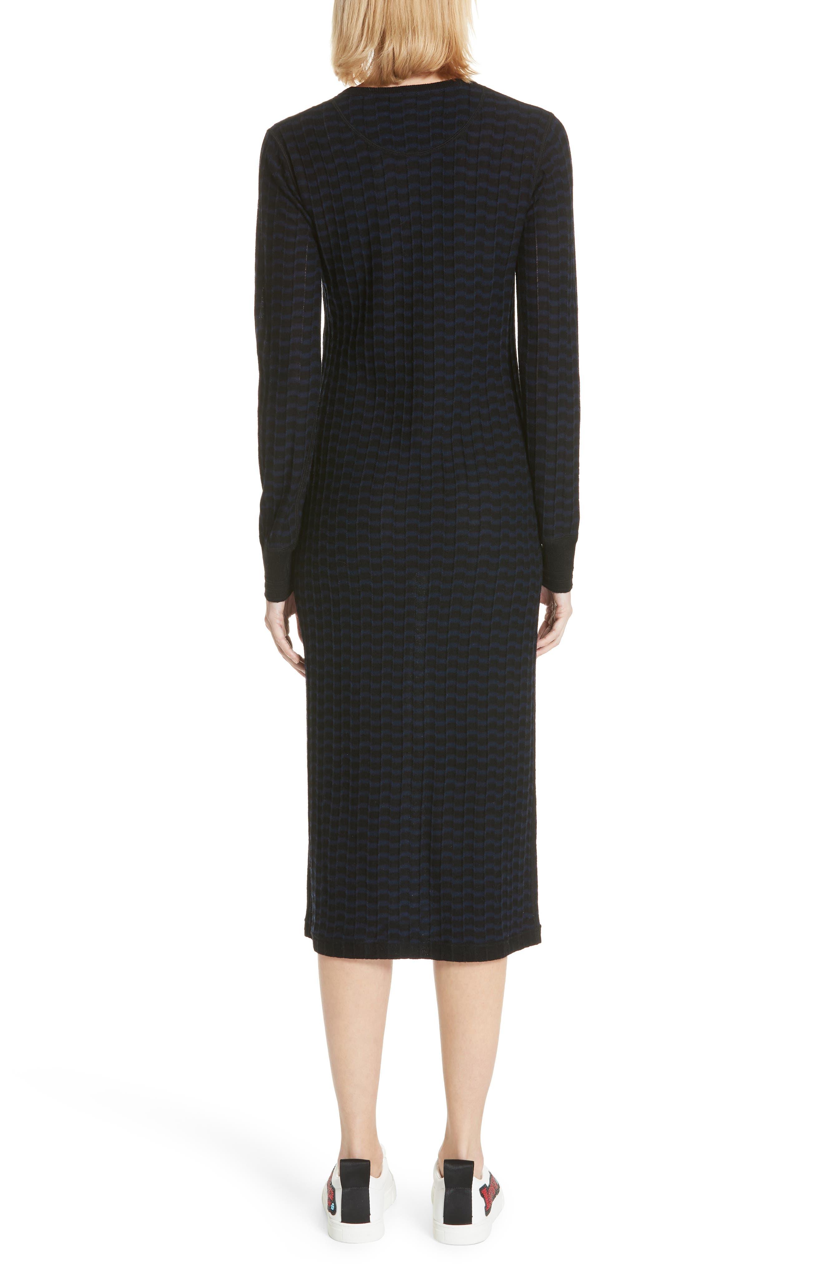 Stripe Wool Sweater-Dress,                             Alternate thumbnail 2, color,                             400