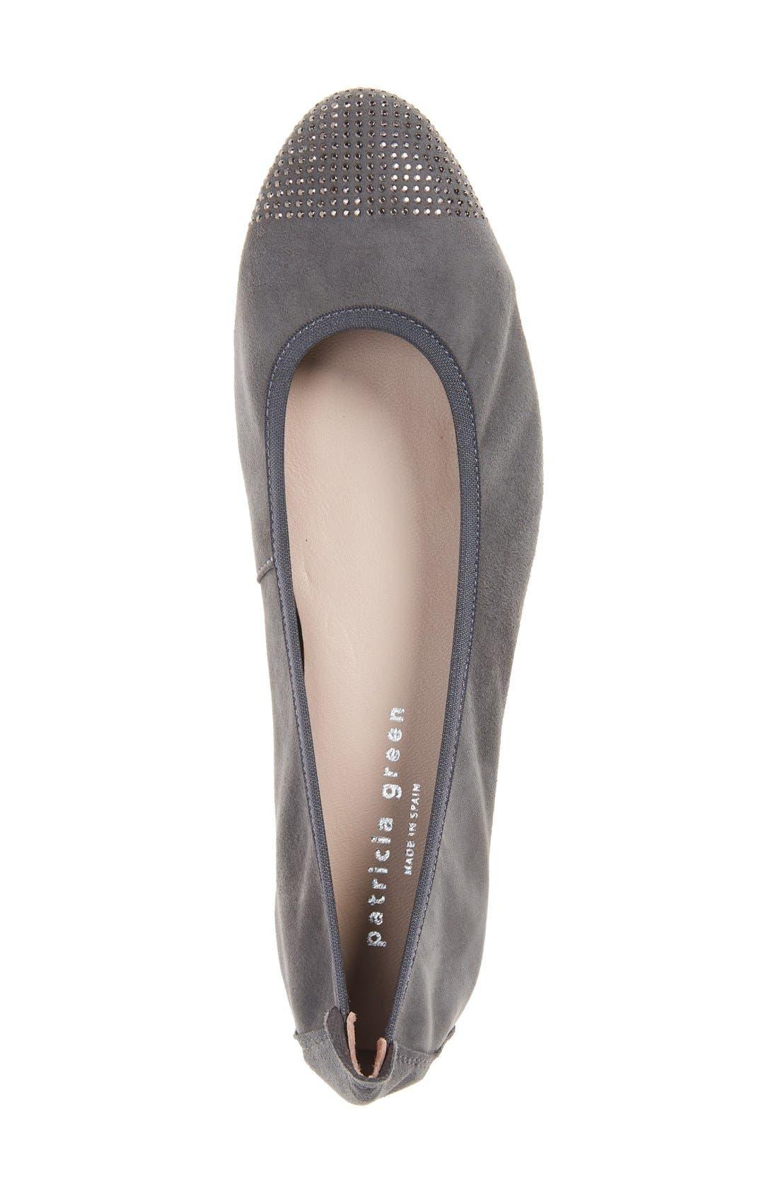 'Starr' Studded Ballet Flat,                             Alternate thumbnail 10, color,