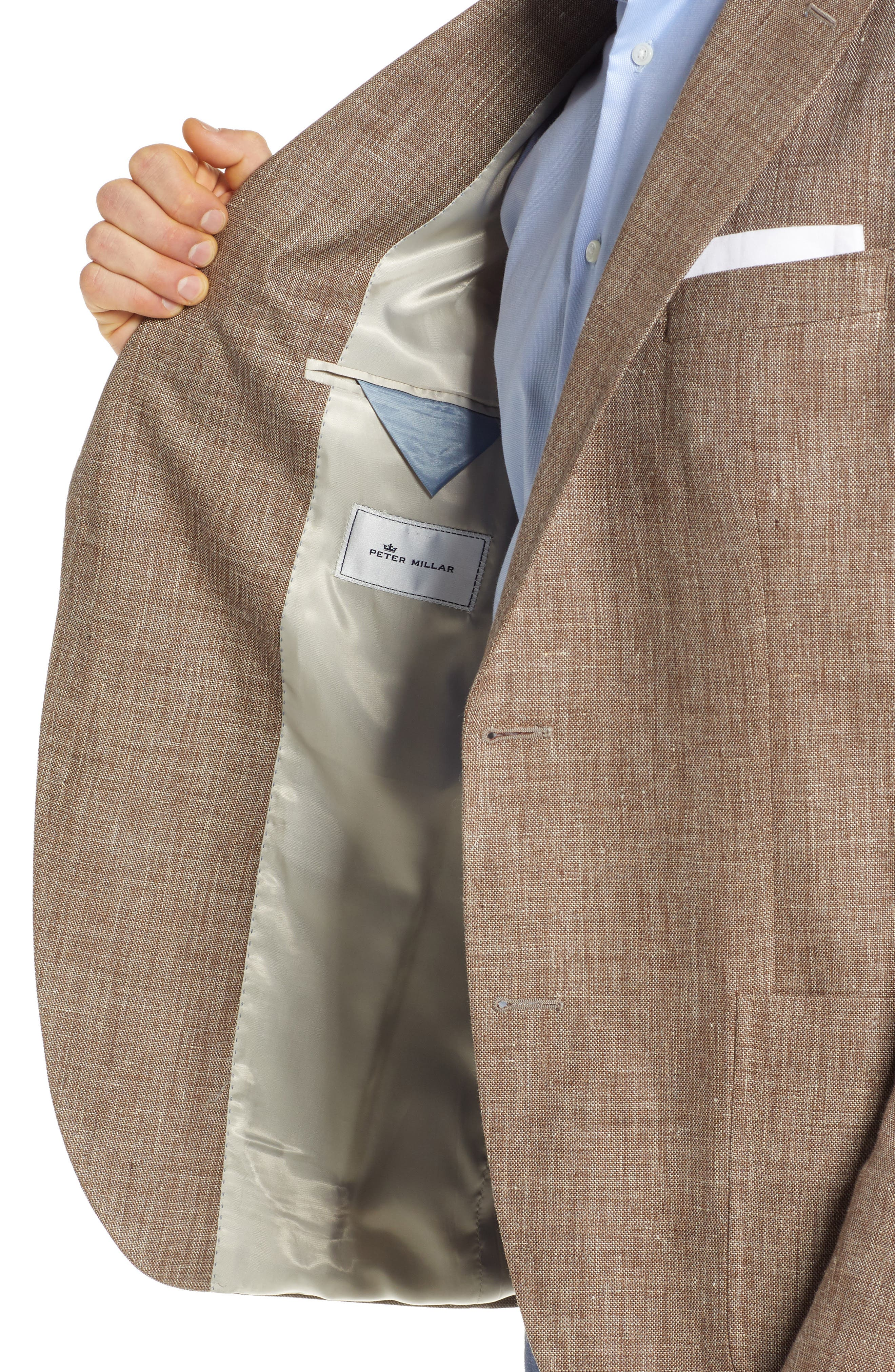 PETER MILLAR,                             Hyperlight Classic Fit Sport Coat,                             Alternate thumbnail 4, color,                             TAN