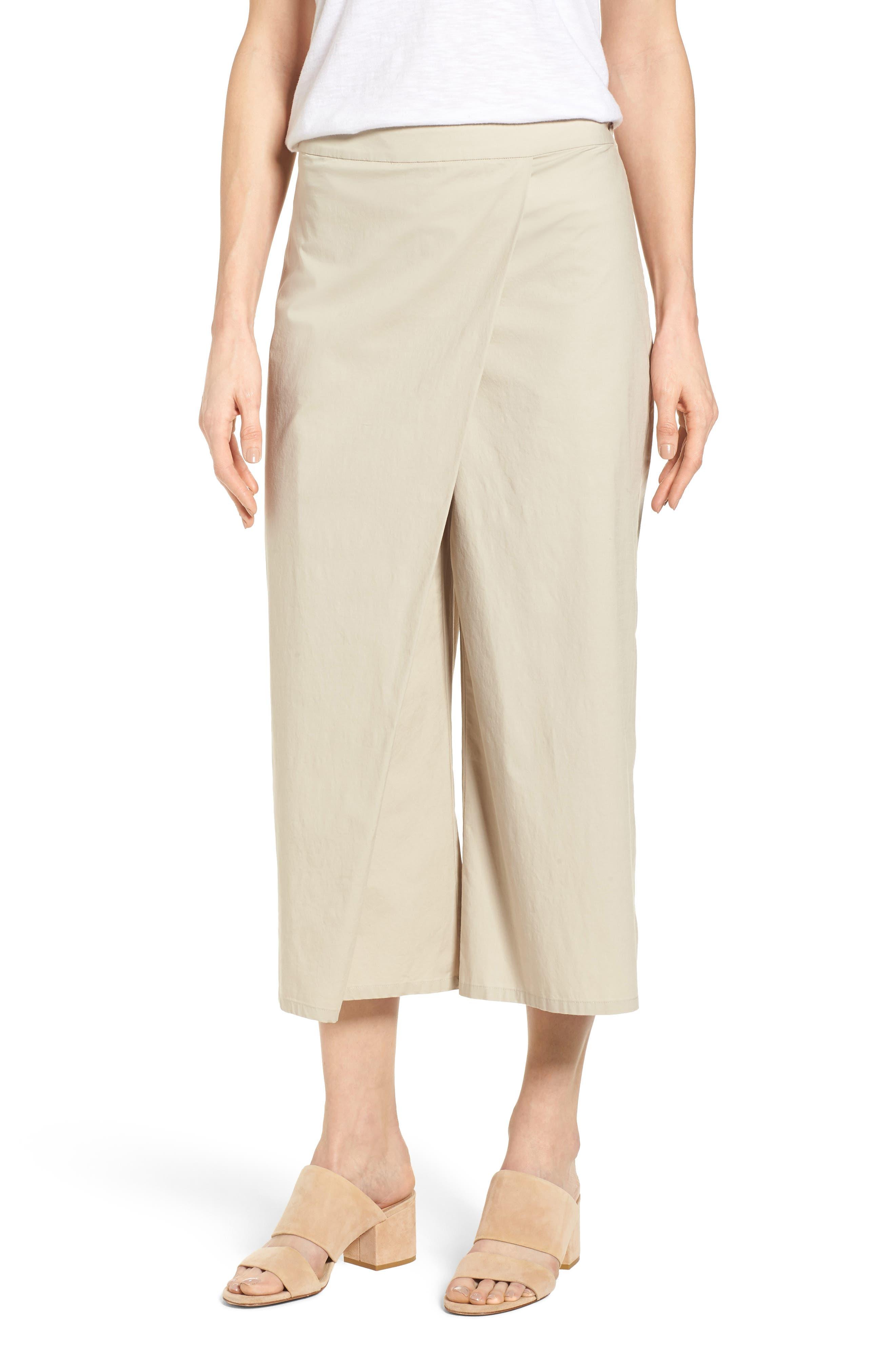 Foldover Wide Leg Crop Pants,                             Main thumbnail 2, color,