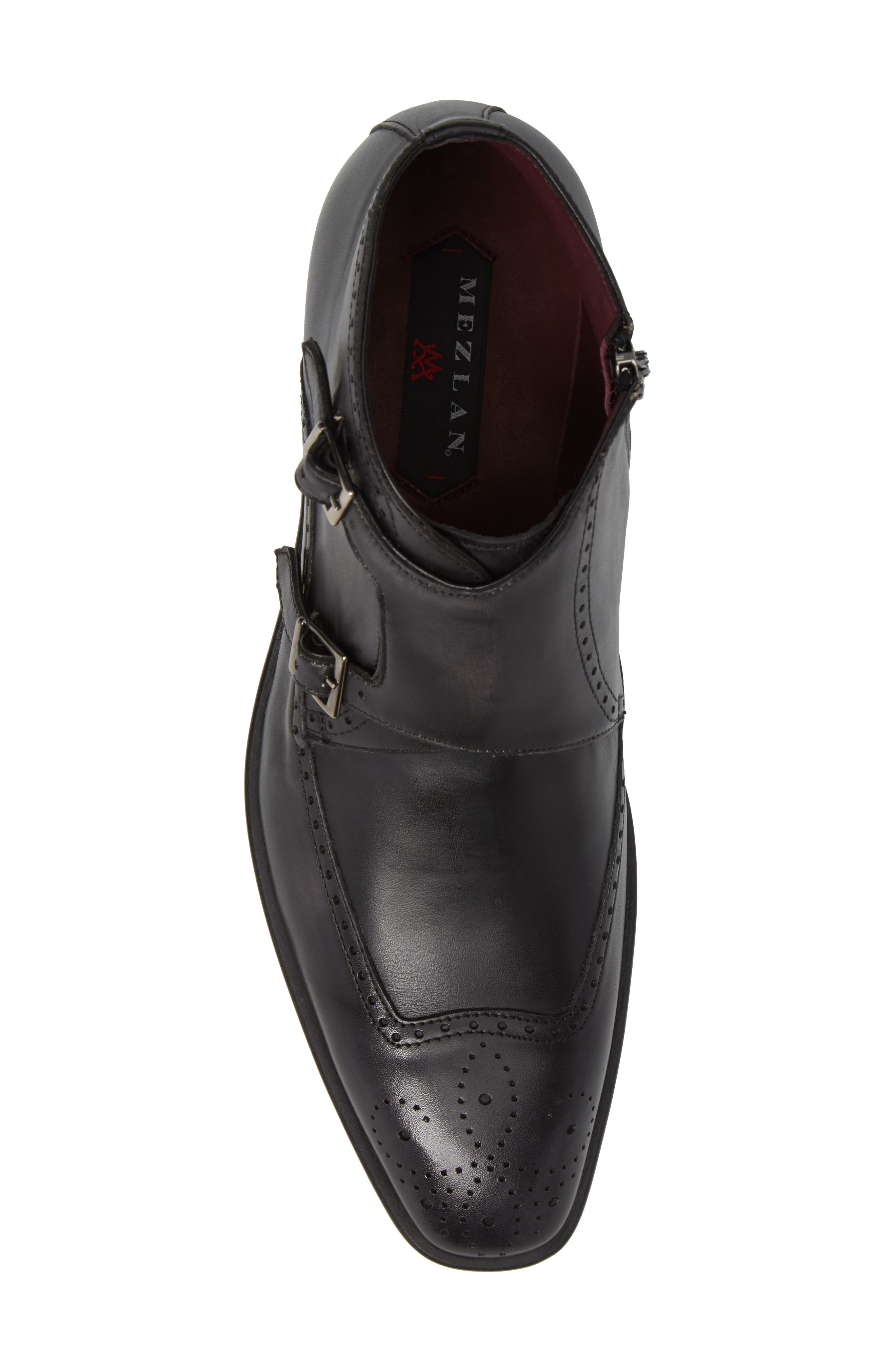 Taberna Double Monk Strap Boot,                             Alternate thumbnail 5, color,                             GRAPHITE LEATHER